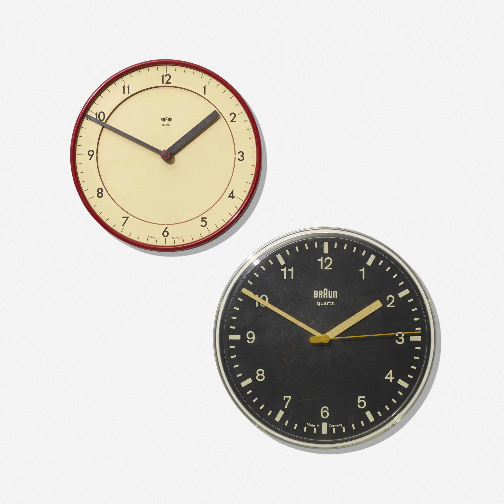 151: Dieter Rams and Dietrich Lubs / wall clocks, set of two (1 of 1)