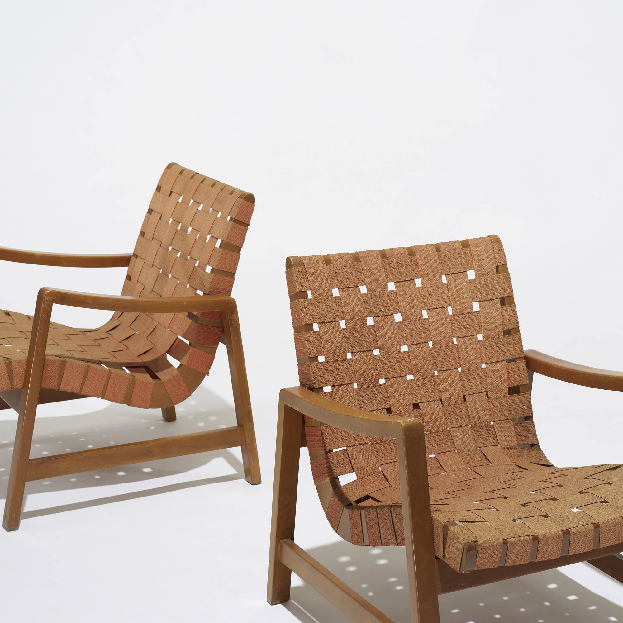 151 jens risom lounge chairs model 652 w pair american