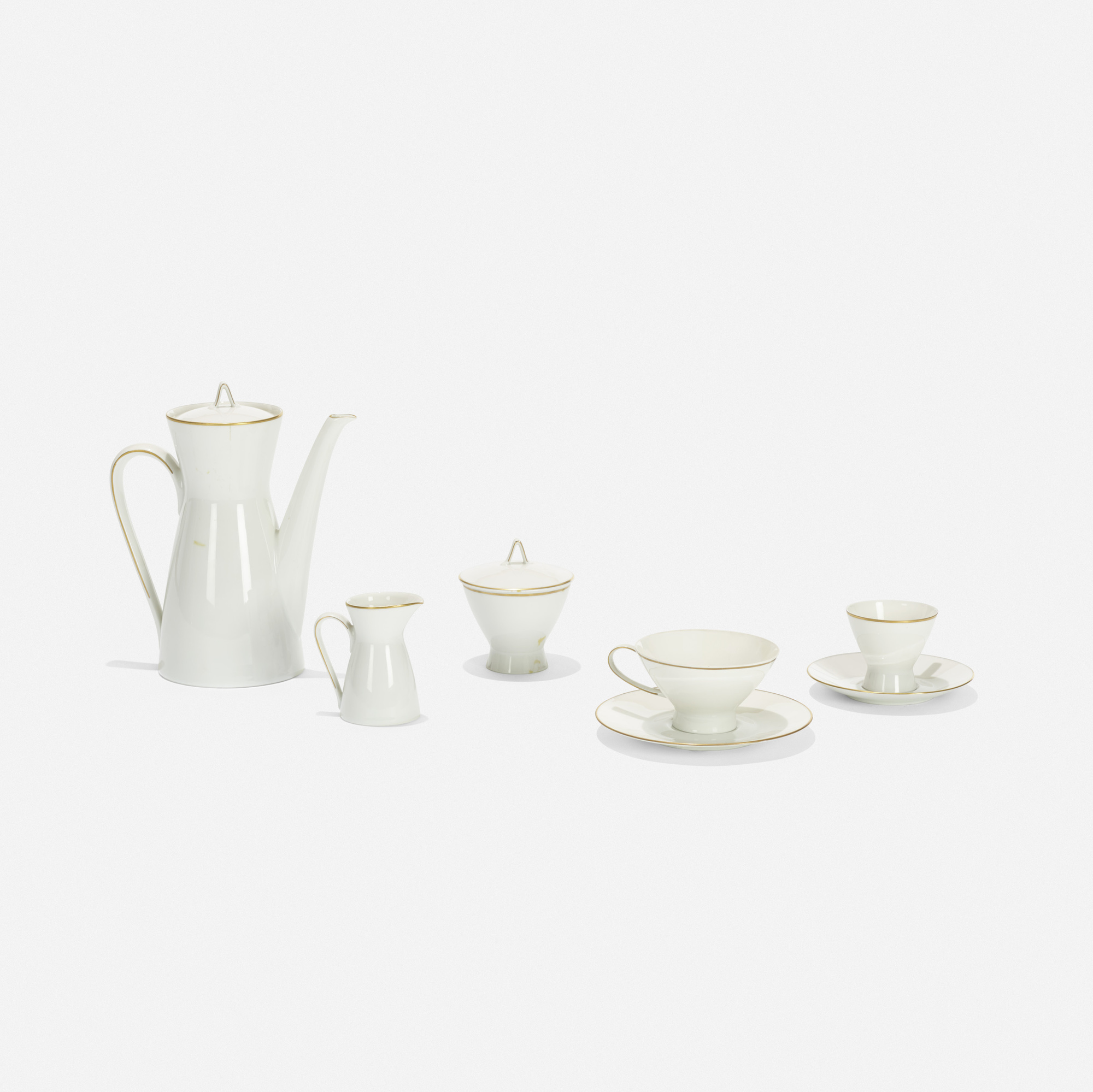 152: Raymond Loewy and Raymond Latham / coffee service (1 of 3)