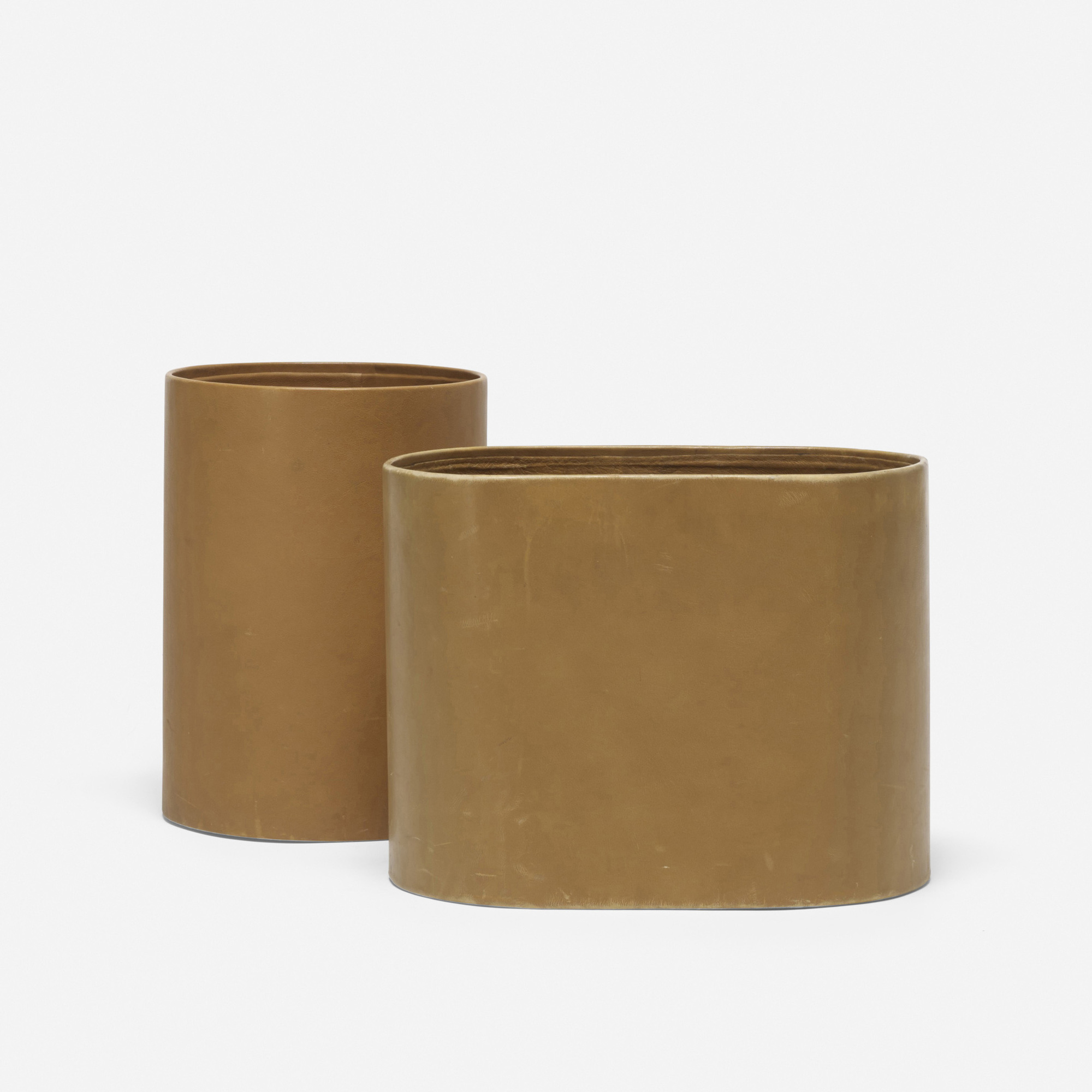 152: Don Powell and Robert Kleinschmidt / pair of wastepaper baskets from 860 Lake Shore Drive, Chicago (2 of 3)