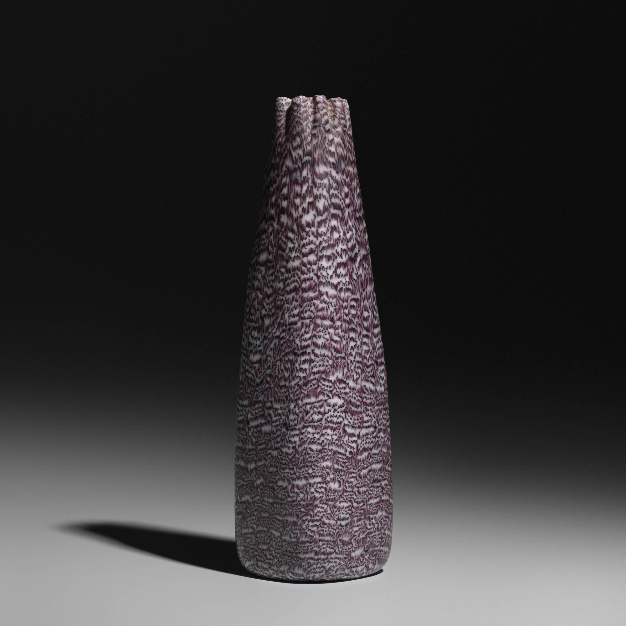 153: Paolo Venini / a Murrine vase, model 3670 (1 of 3)
