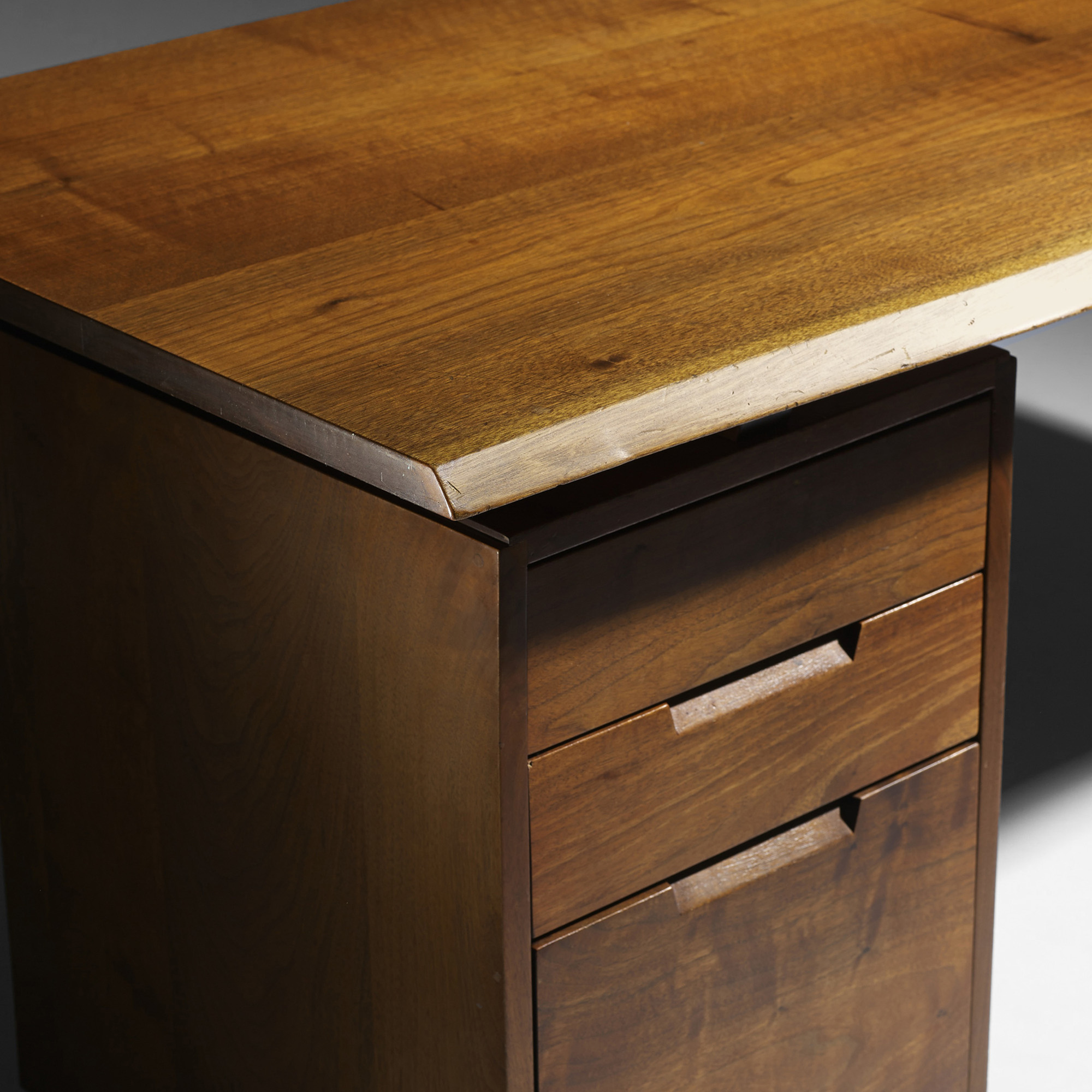 harvest desk hon finish x pedestal on material wood side single laminate right products