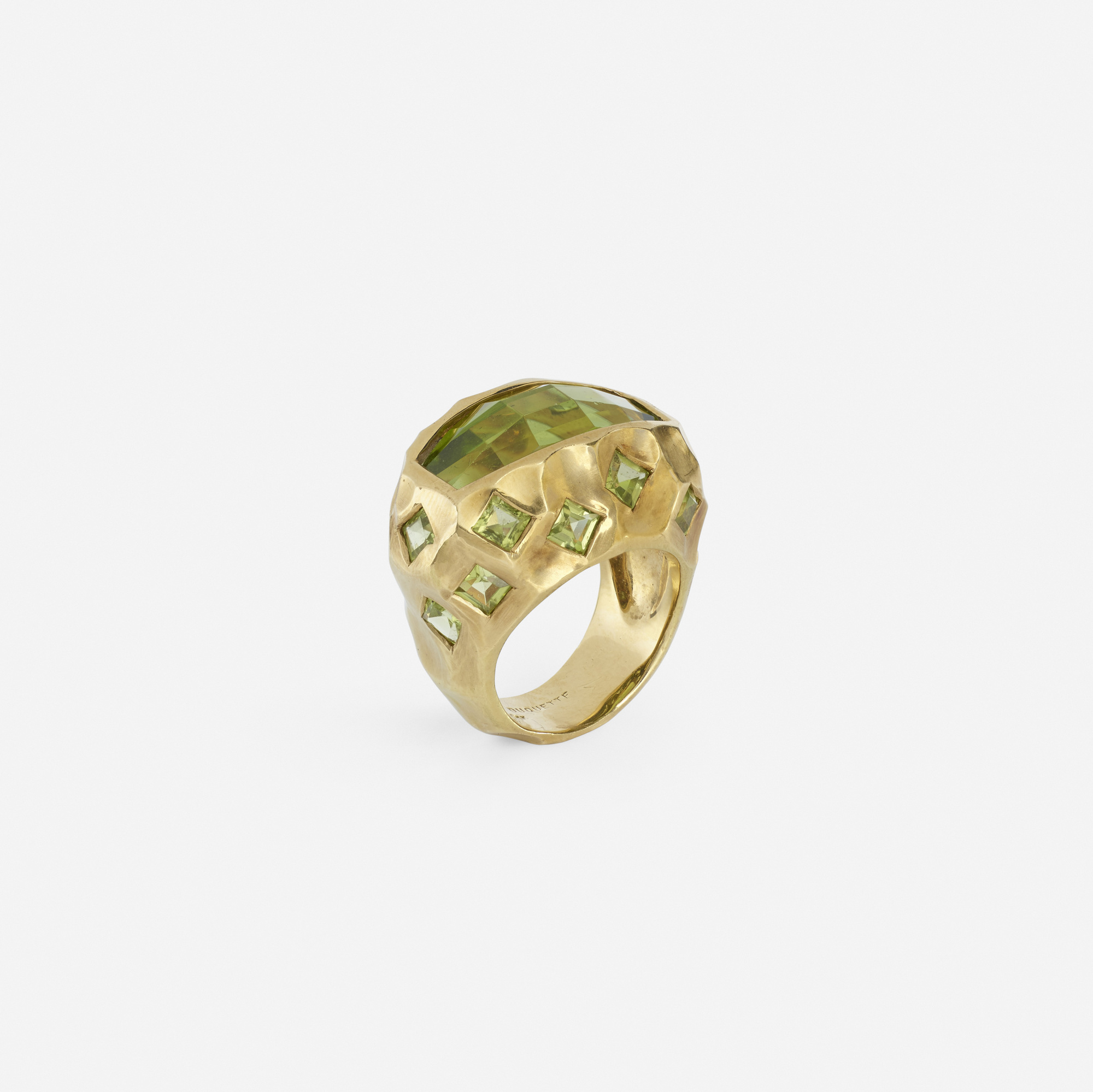 154: Tony Duquette / A gold and green tourmaline ring (1 of 2)