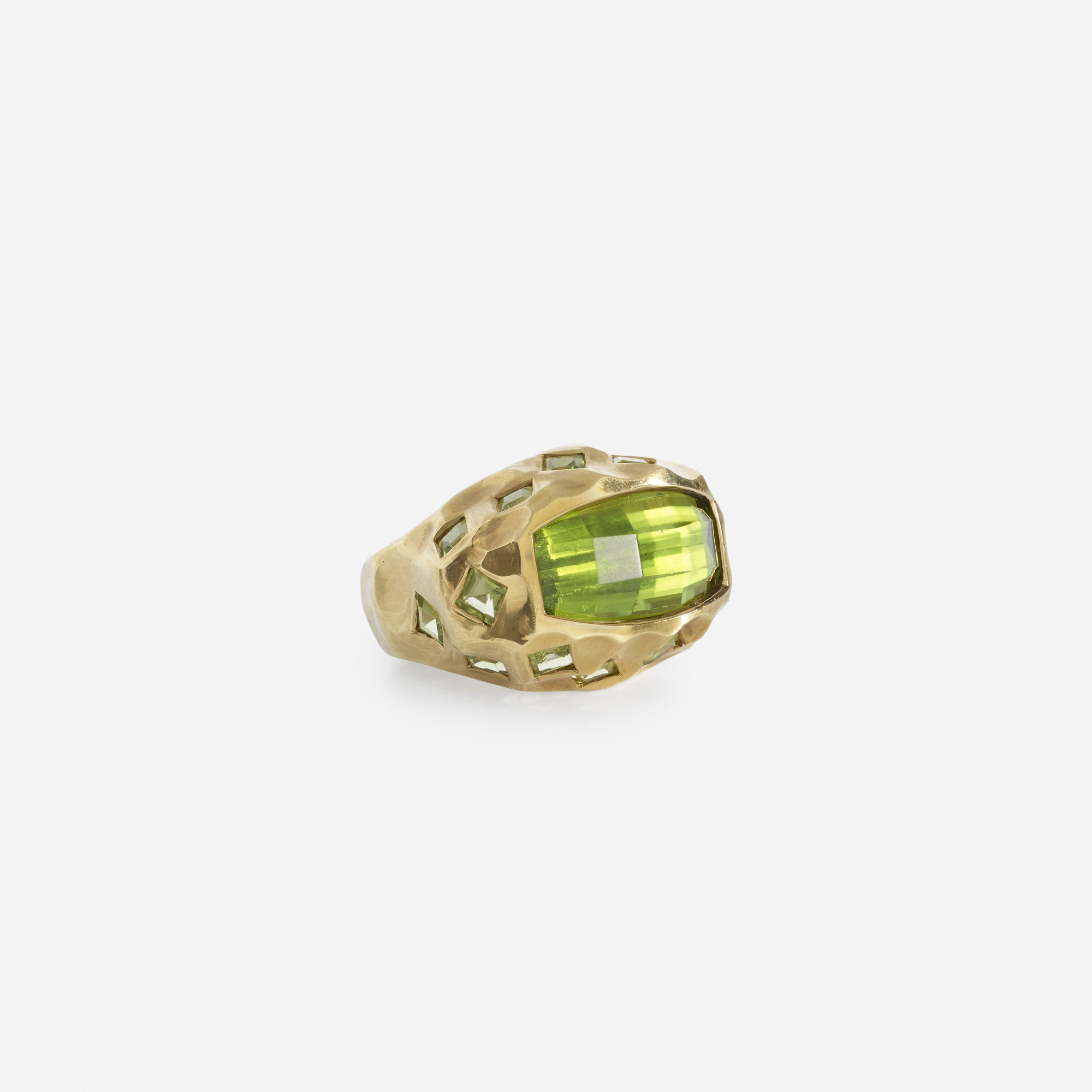 154: Tony Duquette / A gold and green tourmaline ring (2 of 2)