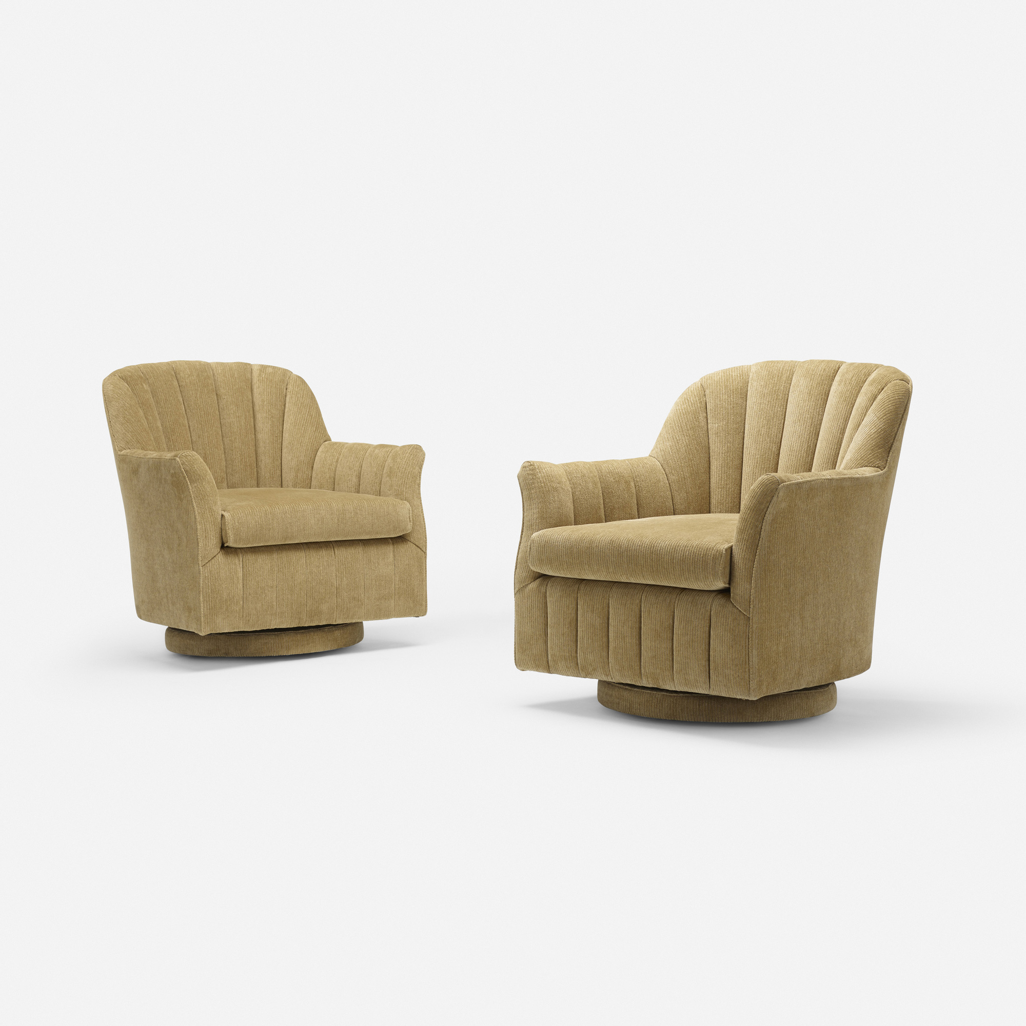 155: Milo Baughman, attribution / lounge chairs, pair (1 of 3)