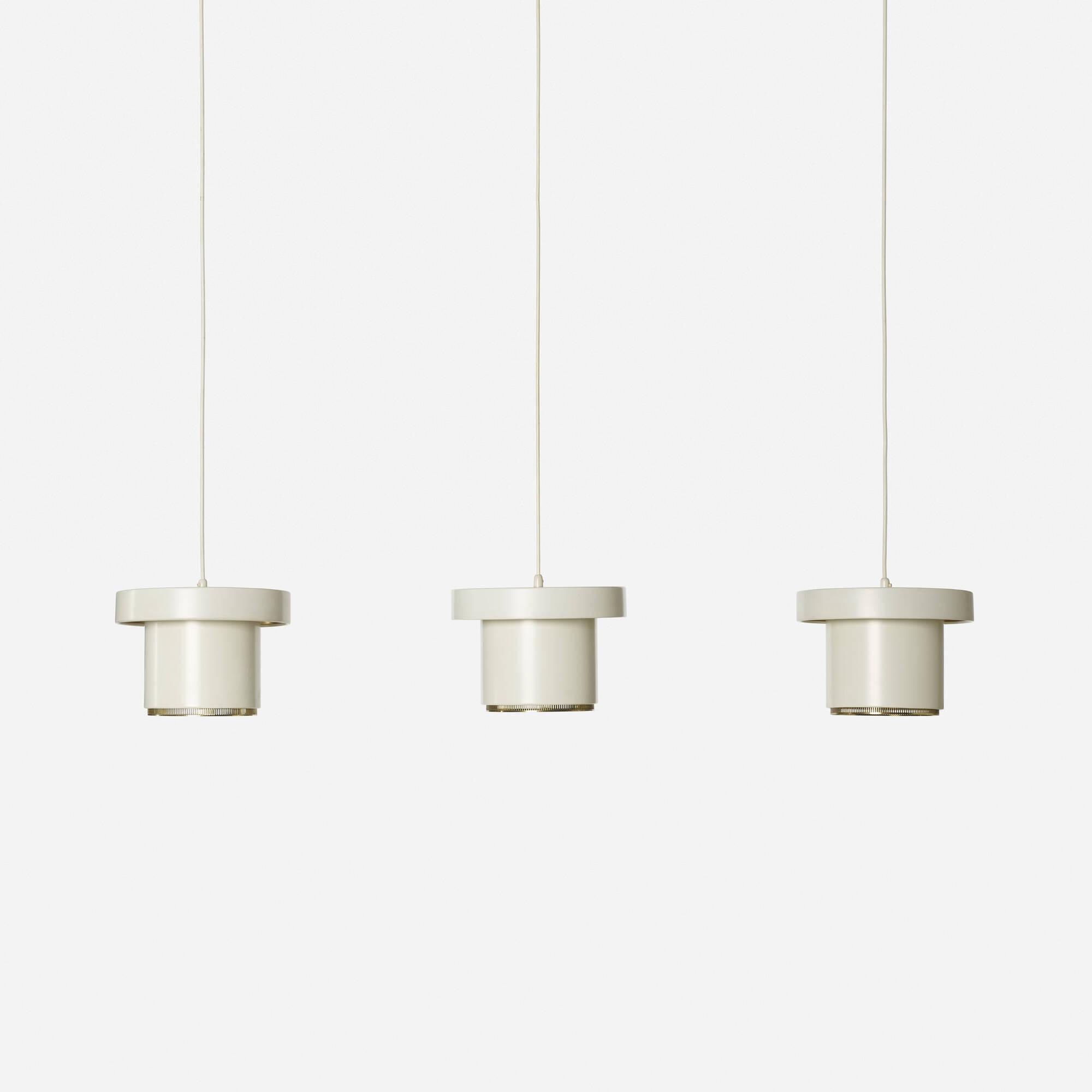 155: Alvar Aalto / pendant lamps model A 201, set of three (1 of 3)