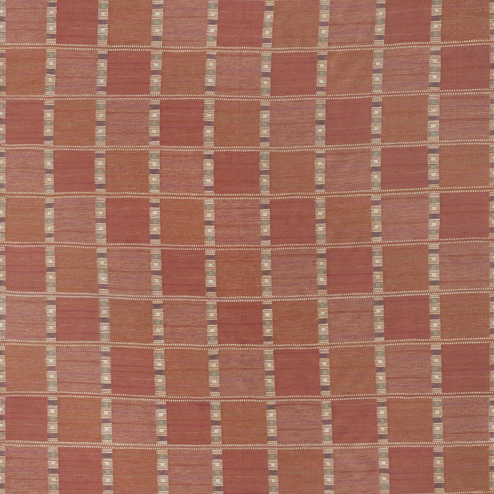 155: Barbro Nilsson / rare Falurutan flatweave carpet (2 of 2)
