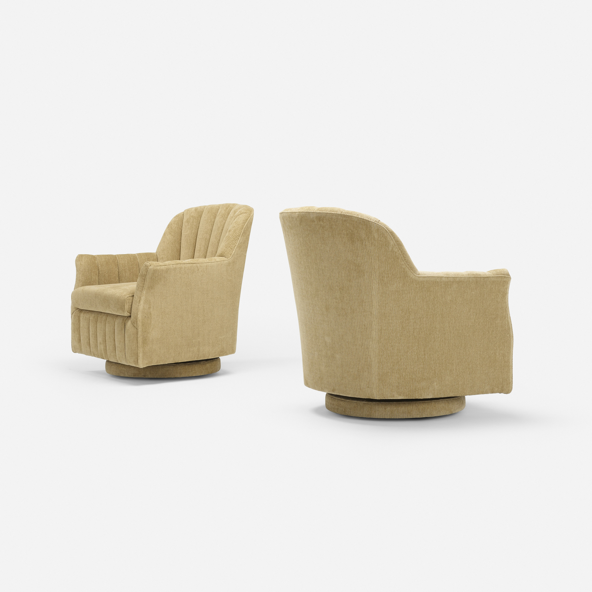 155: Milo Baughman, attribution / lounge chairs, pair (2 of 3)