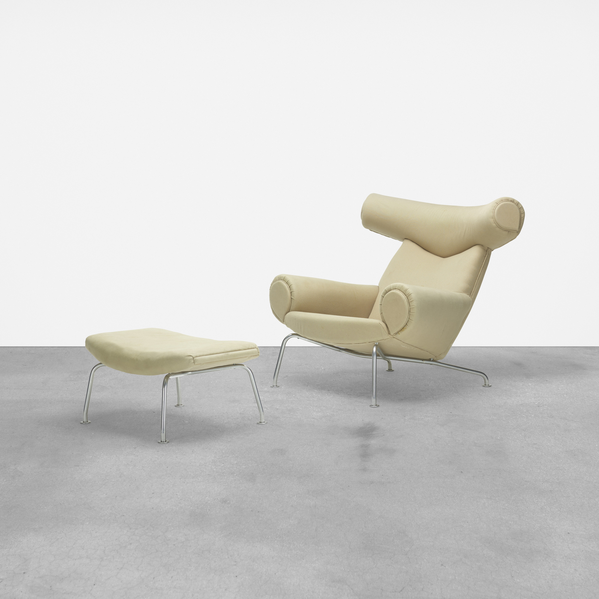 156: Hans J. Wegner / Ox chair and ottoman (1 of 4)