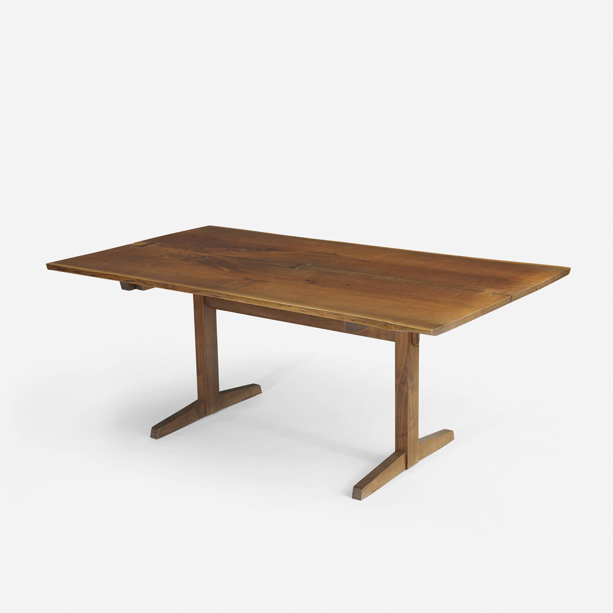 156 george nakashima trestle dining table for Trestle dining table