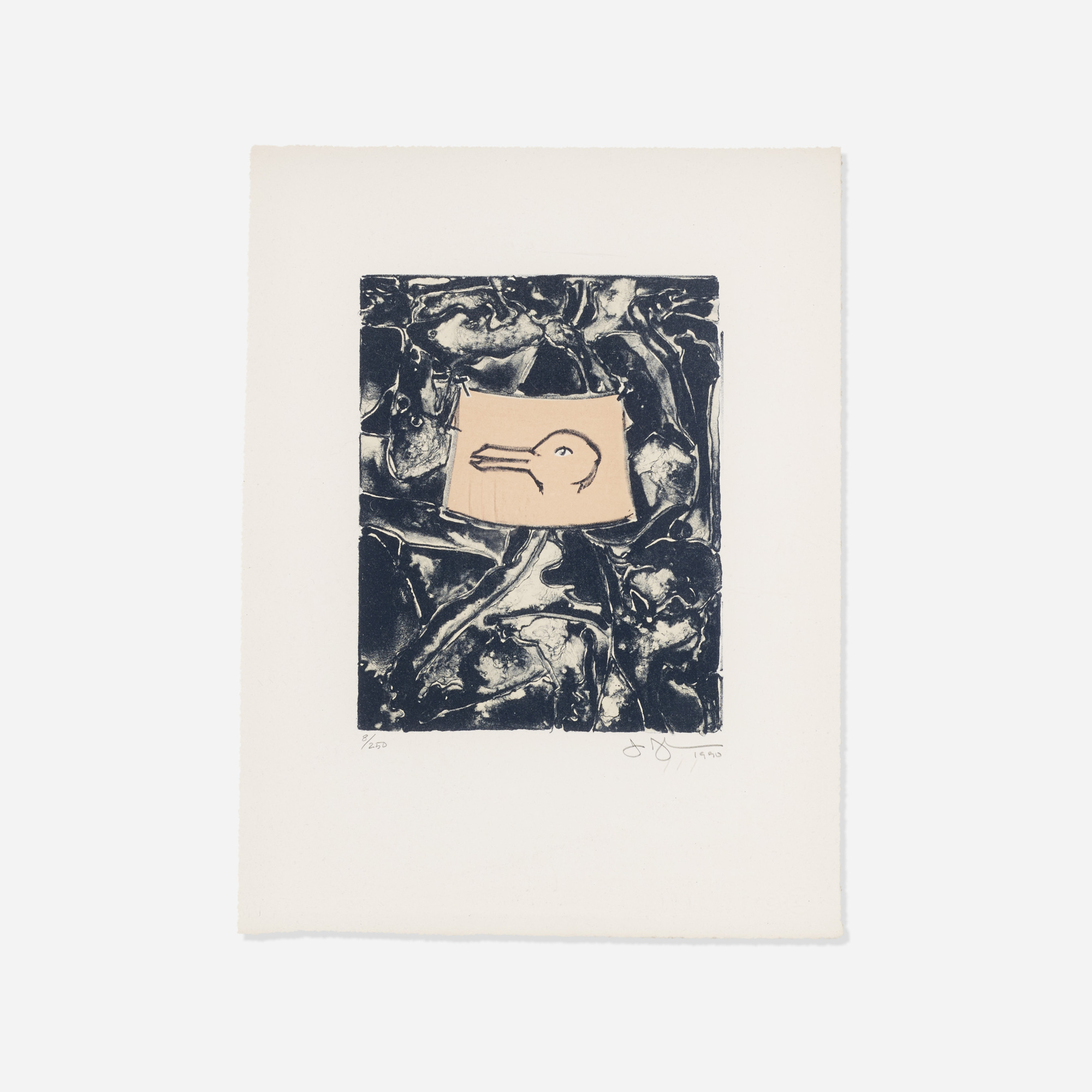 156: Jasper Johns / Untitled (from the Harvey Gantt Portfolio) (1 of 1)