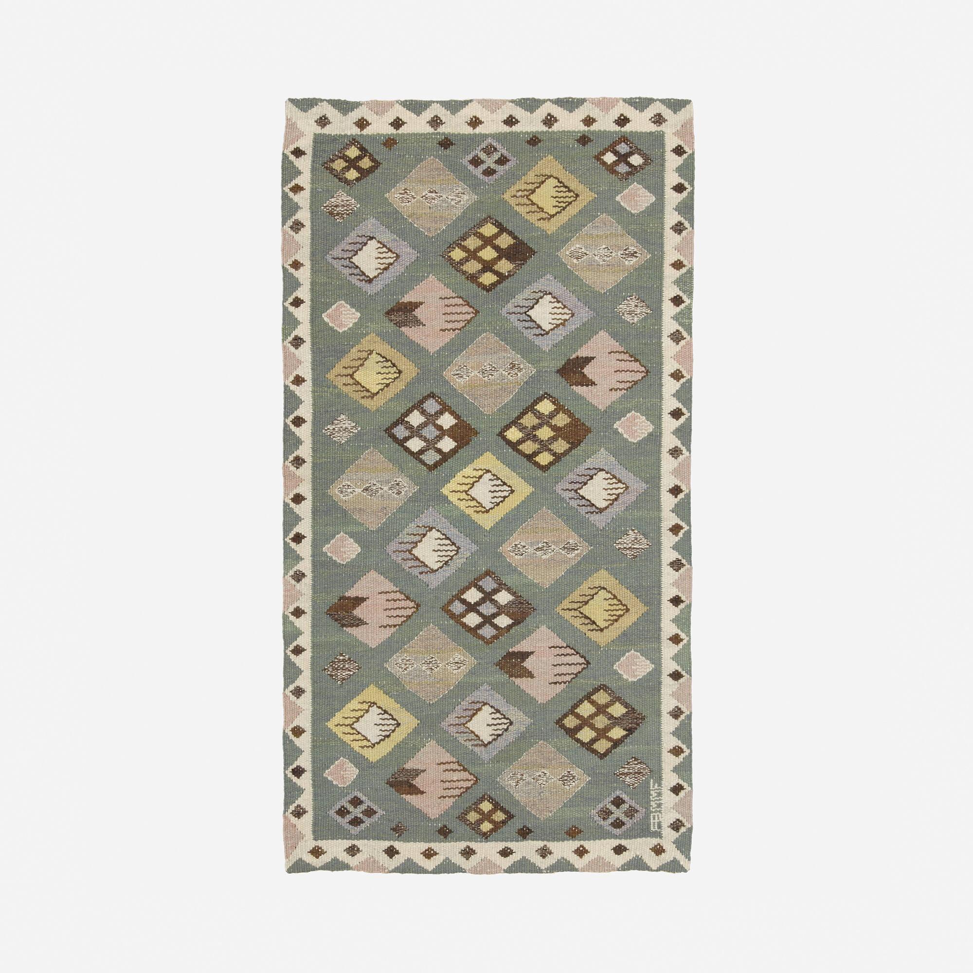156: Märta Måås-Fjetterström / Knoppen tapestry weave carpet (1 of 1)