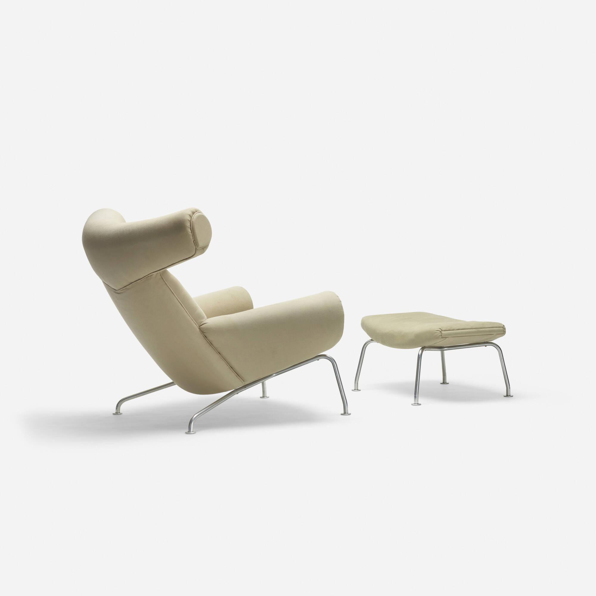 156: Hans J. Wegner / Ox chair and ottoman (2 of 4)