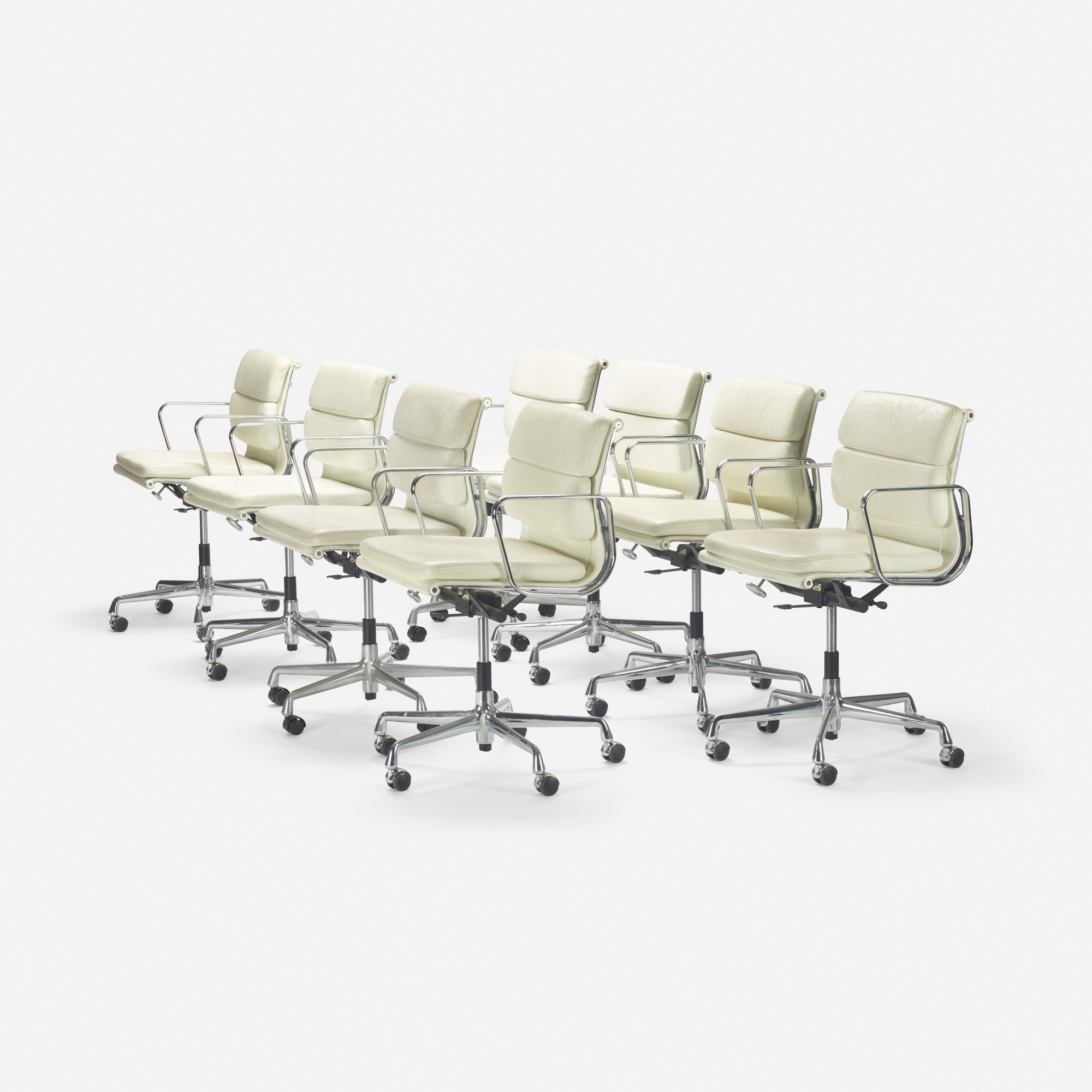 157: Charles and Ray Eames / Soft Pad chairs, set of eight (1 of 2)