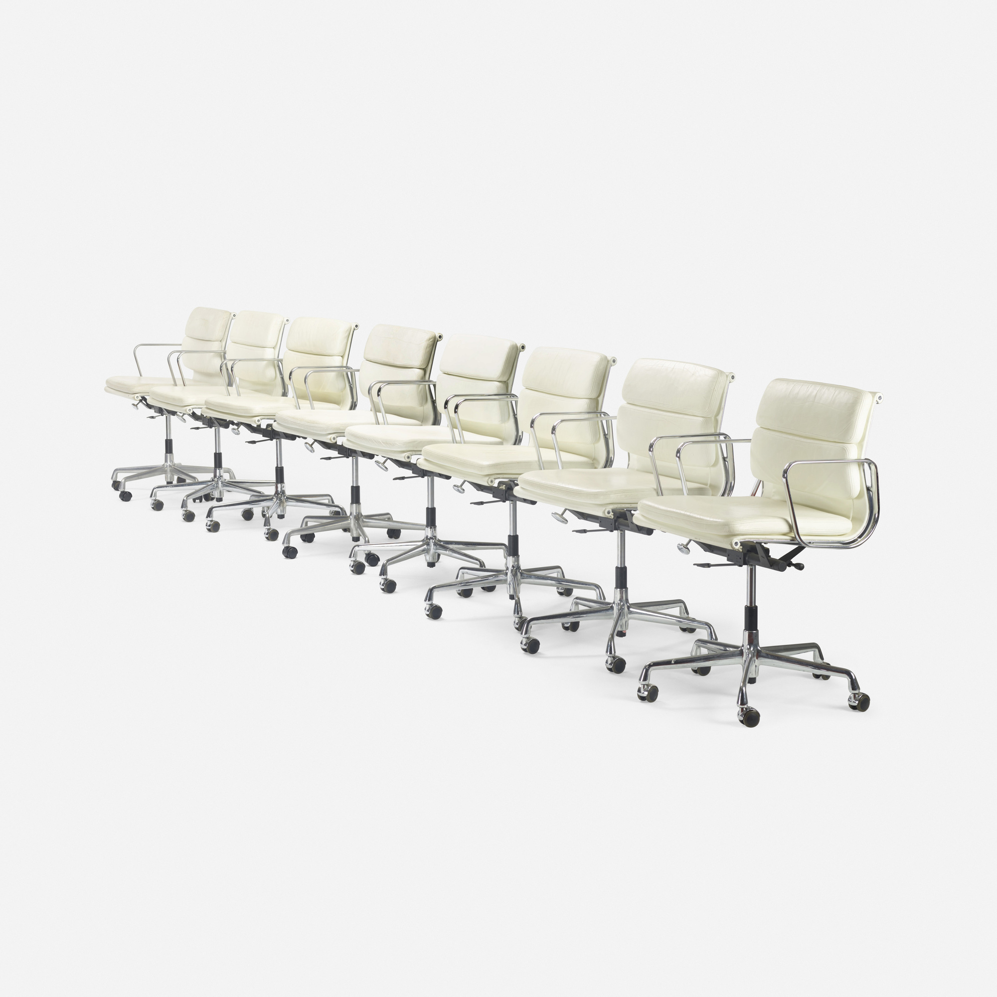 157: Charles and Ray Eames / Soft Pad chairs, set of eight (2 of 2)