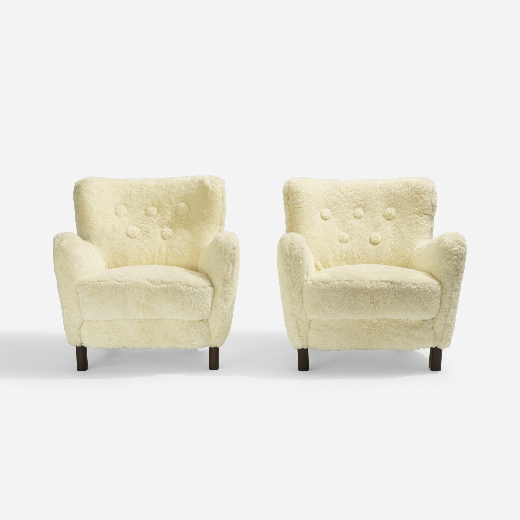157: Fritz Hansen / lounge chairs model 1669, pair (2 of 3)