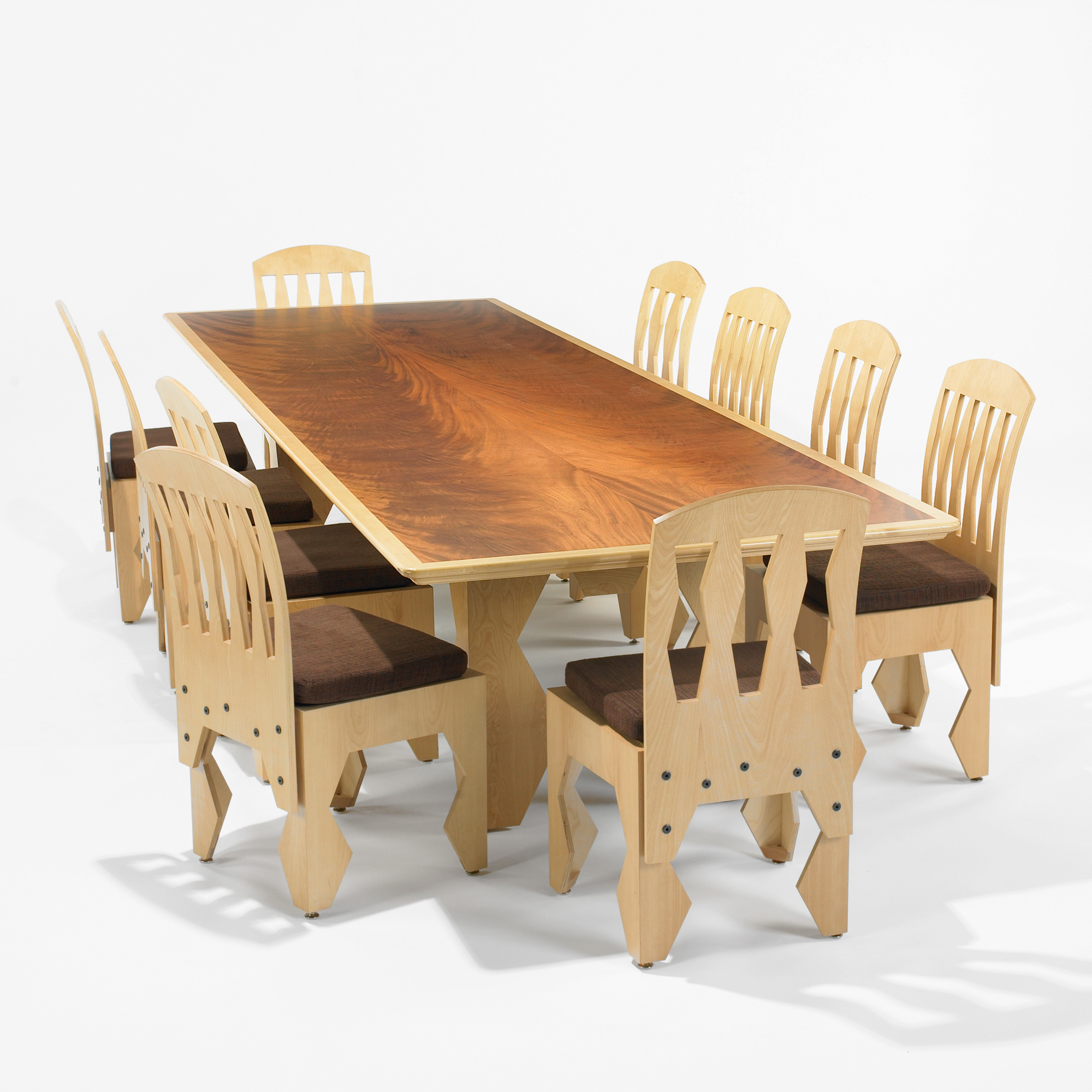158 Laurence Booth Dining Table And Set Of Ten Chairs Mass Modern 9 July 2011 Auctions Wright Auctions Of Art And Design