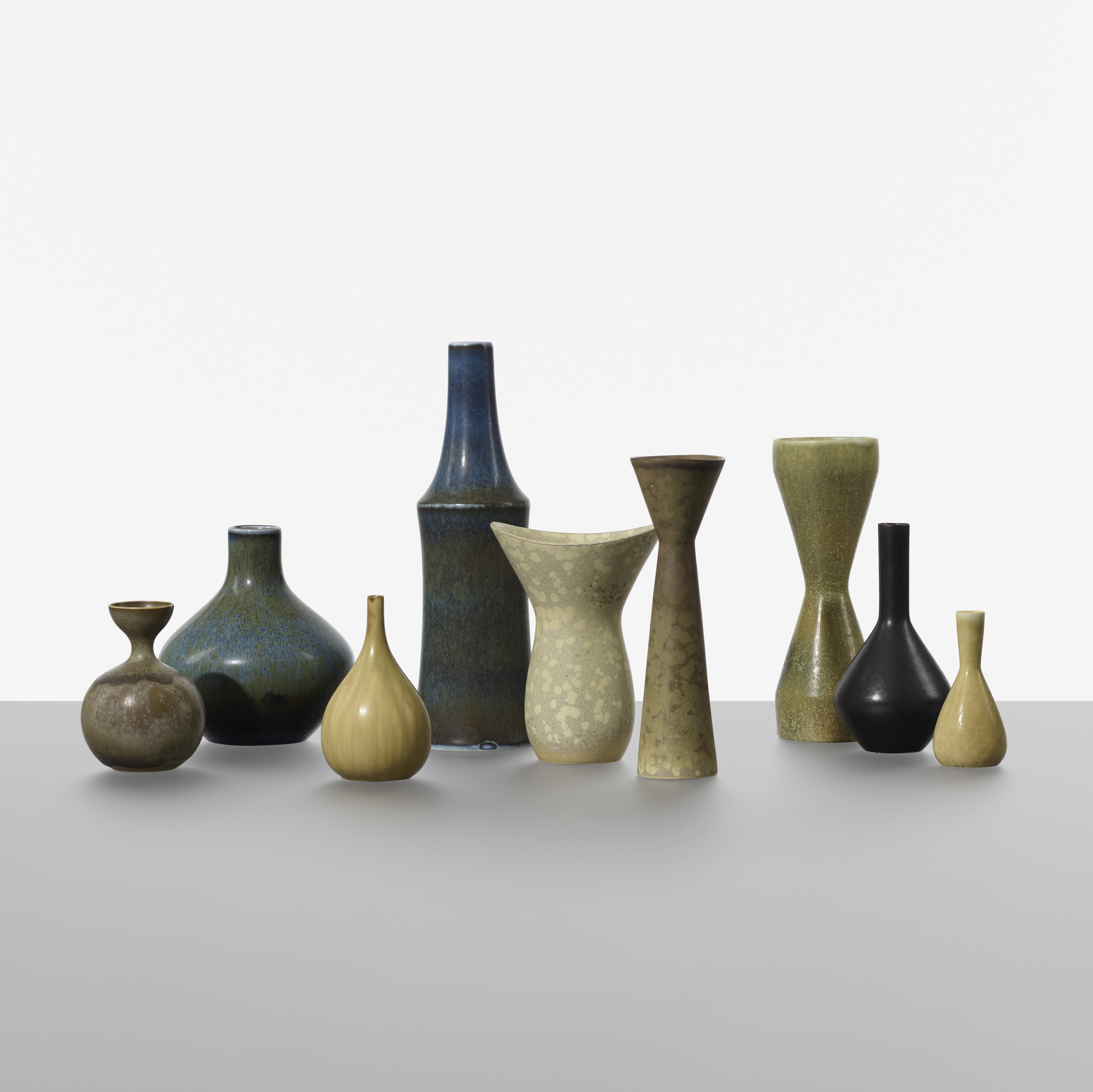 158: Carl-Harry Stalhane / collection of nine vases (1 of 3)