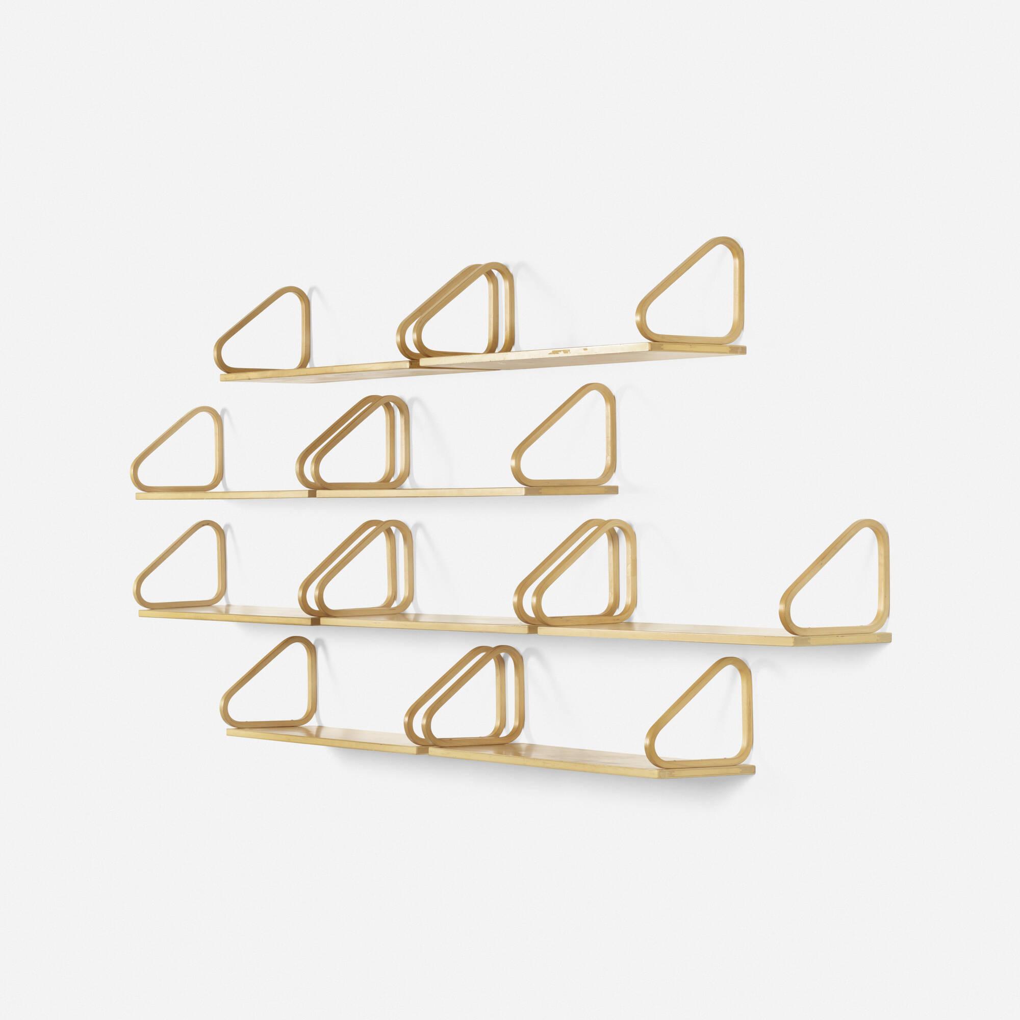 158: Alvar Aalto / shelves, set of nine (1 of 1)