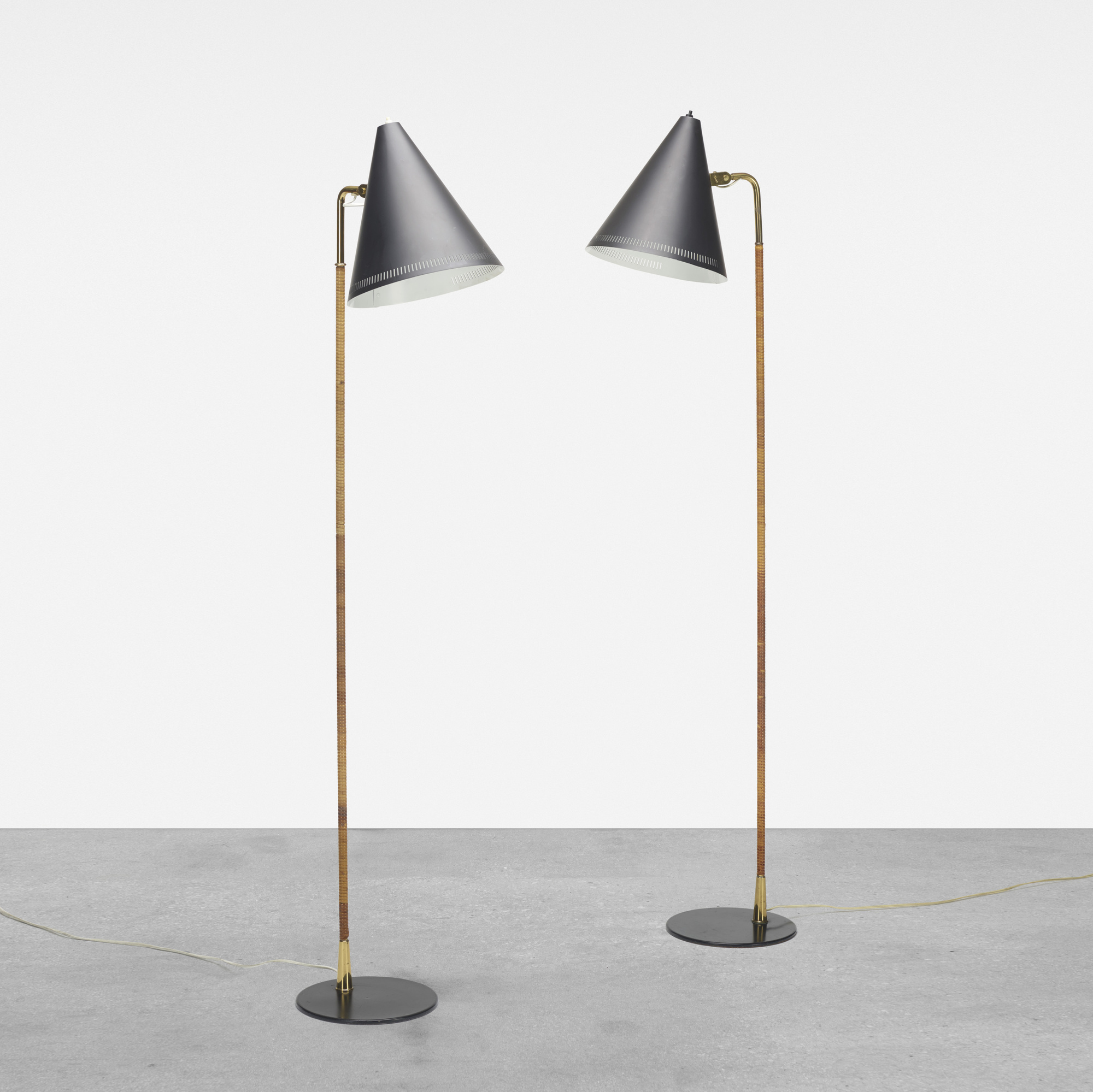 159: Paavo Tynell / floor lamps, pair (1 of 3)