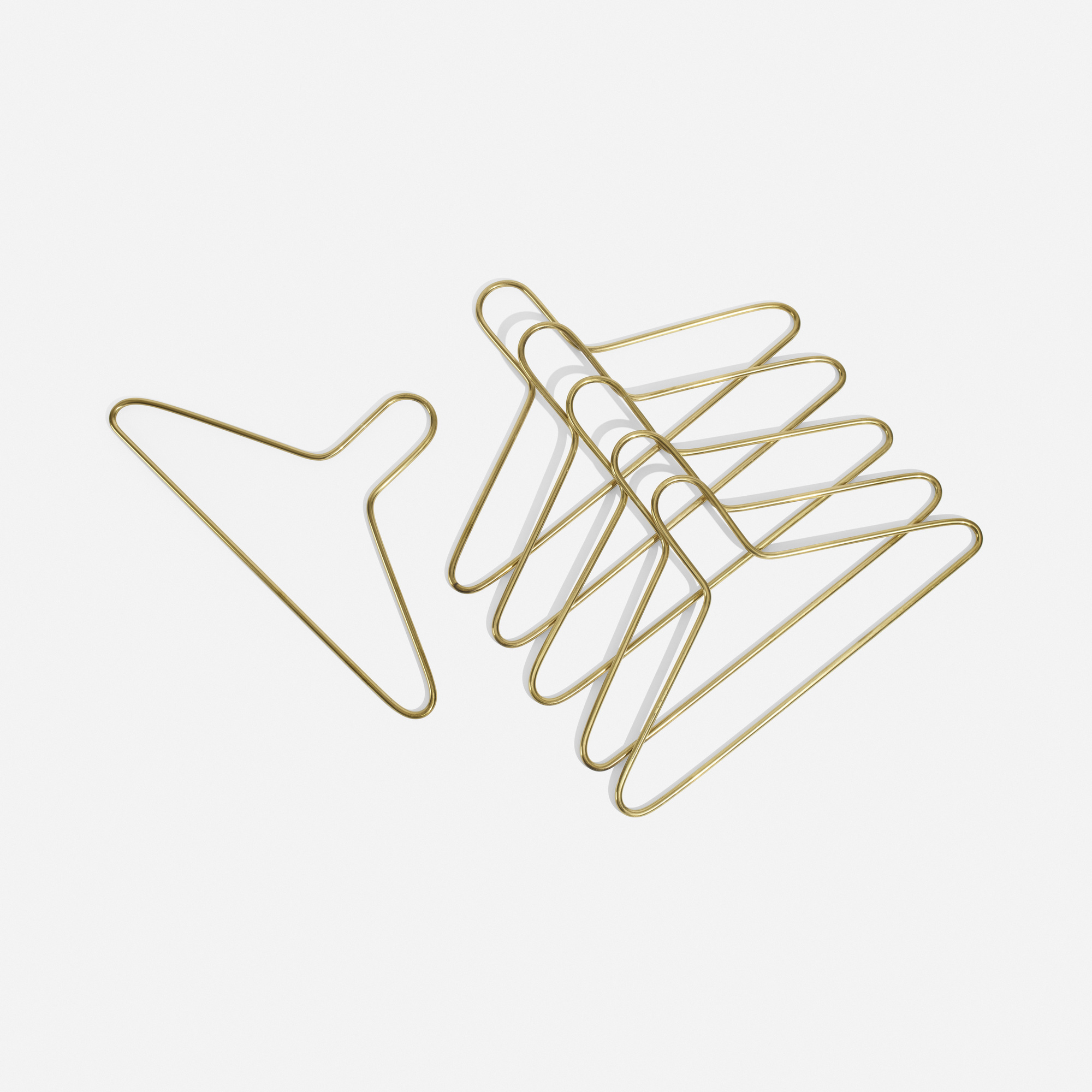 159: Carl Auböck III / coat hangers, set of six (1 of 2)