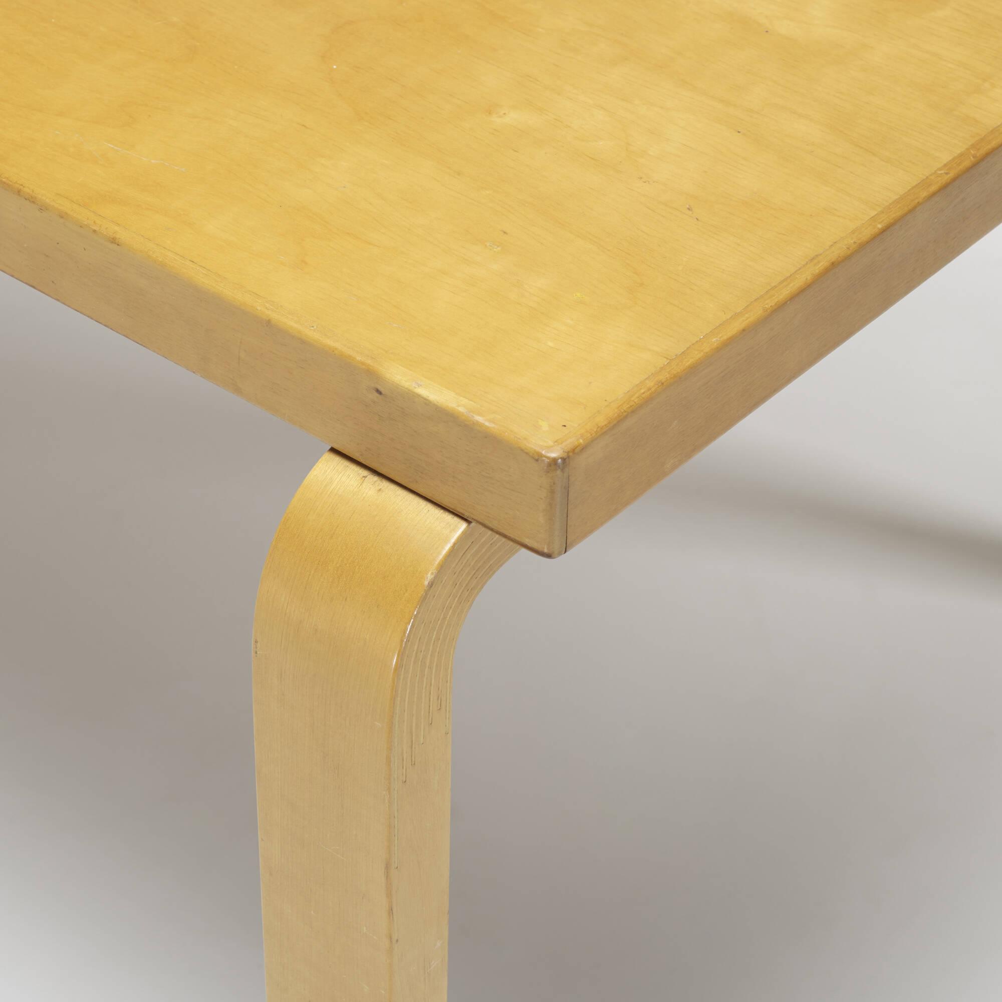 ... 159: Alvar Aalto / L Leg Dining Table (3 Of 3)