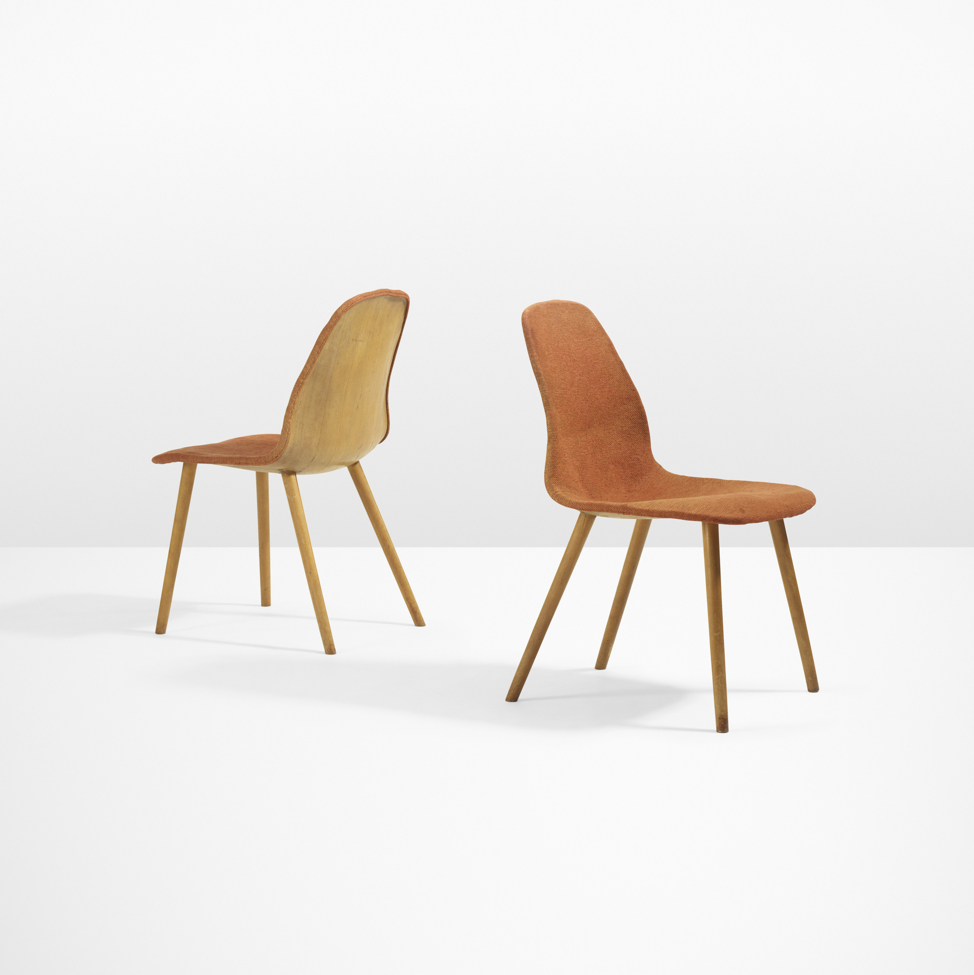 15 charles eames and eero saarinen rare pair of chairs from the organic design competition. Black Bedroom Furniture Sets. Home Design Ideas
