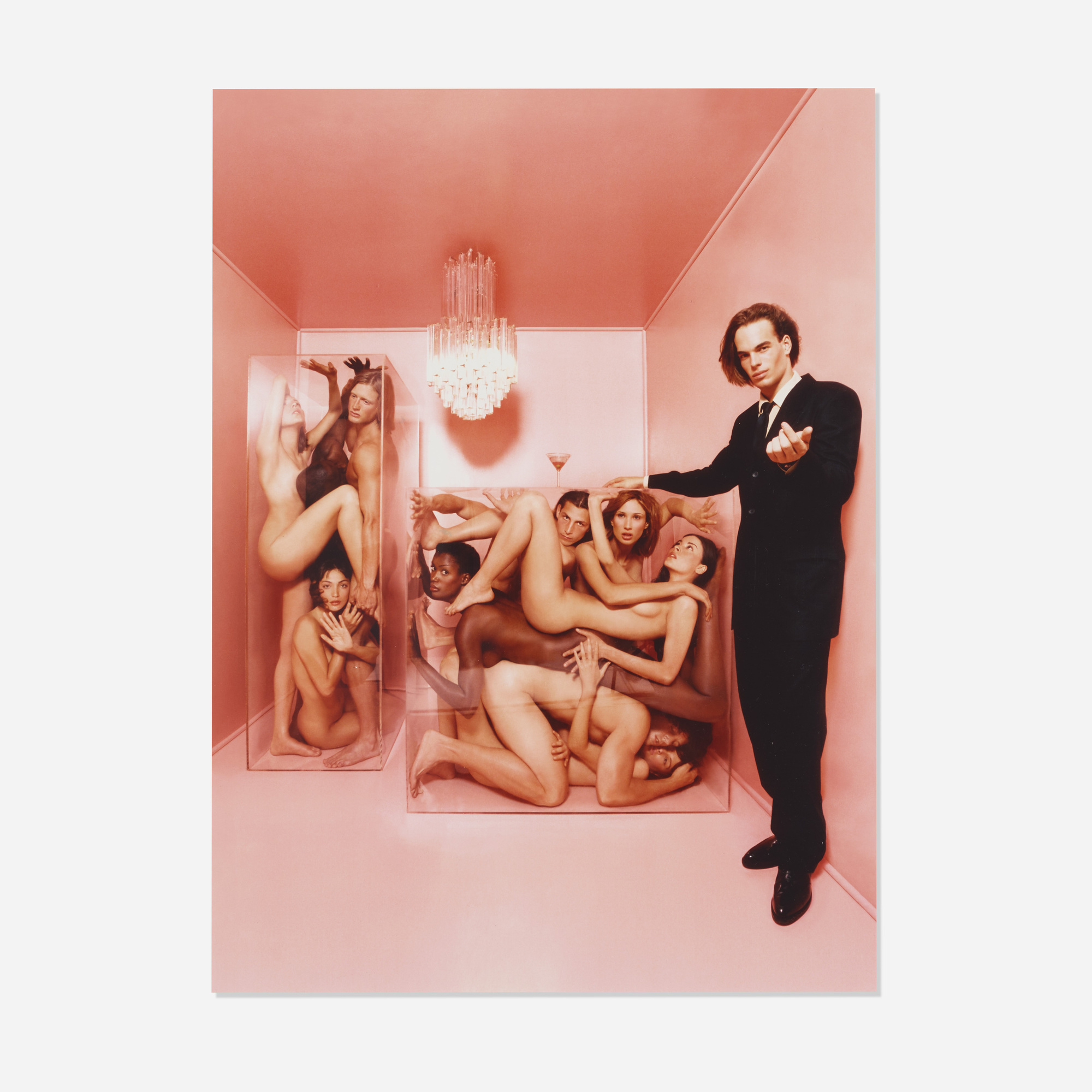 160: David LaChapelle / Joel West and Nudes in Plexiglas Boxes, New York (1 of 1)