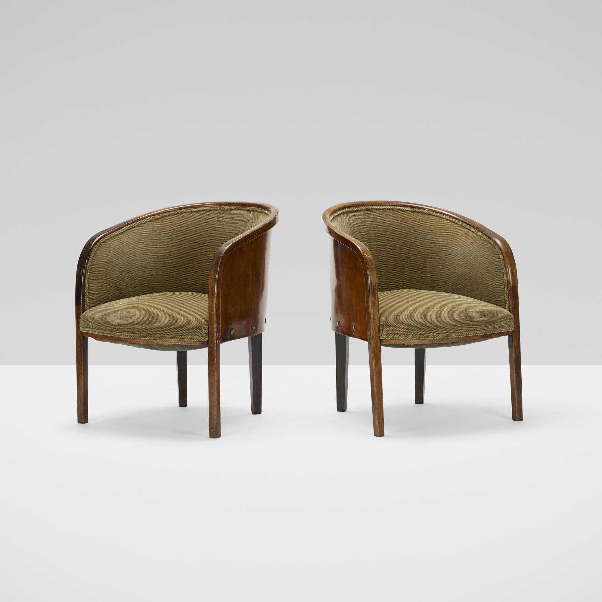 160: J. & J. Kohn / armchairs model W795, pair (2 of 3)