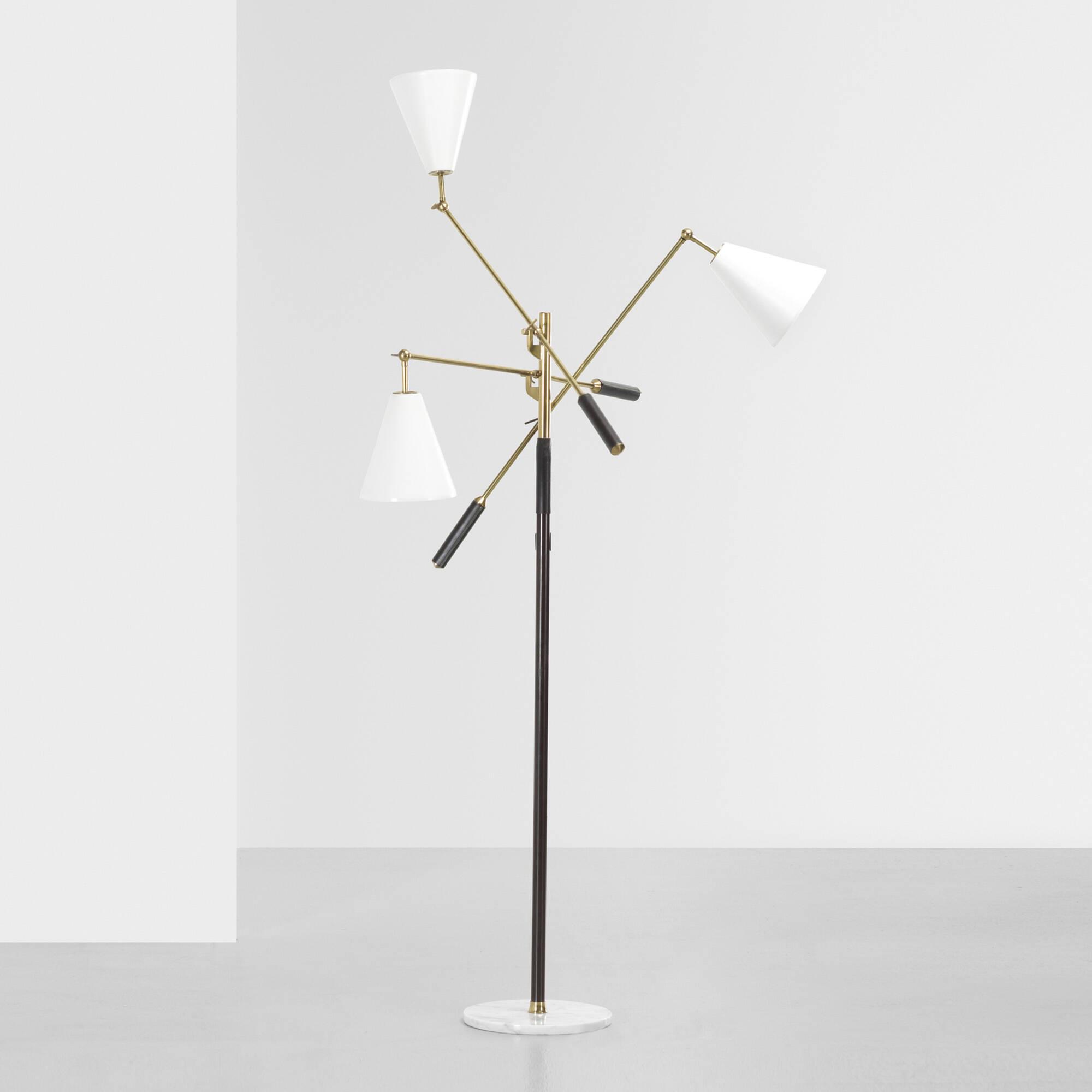 161 arredoluce three arm floor lamp for Arredo luce