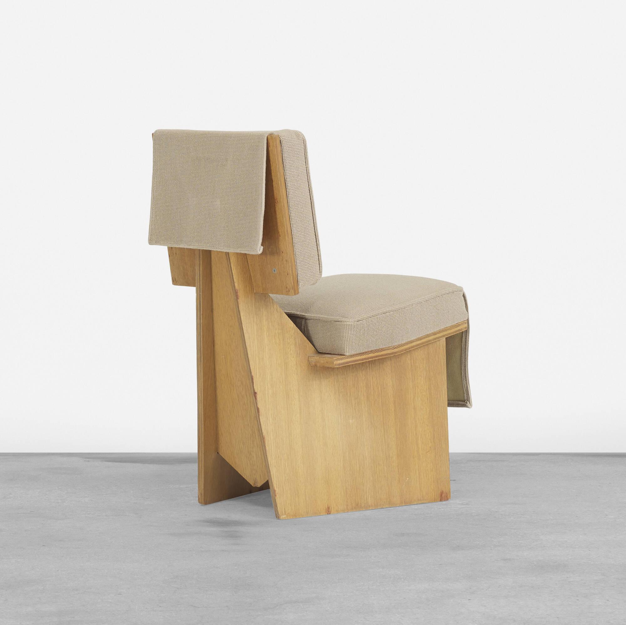 162 Frank Lloyd Wright Usonian Lounge Chair Important Design 11