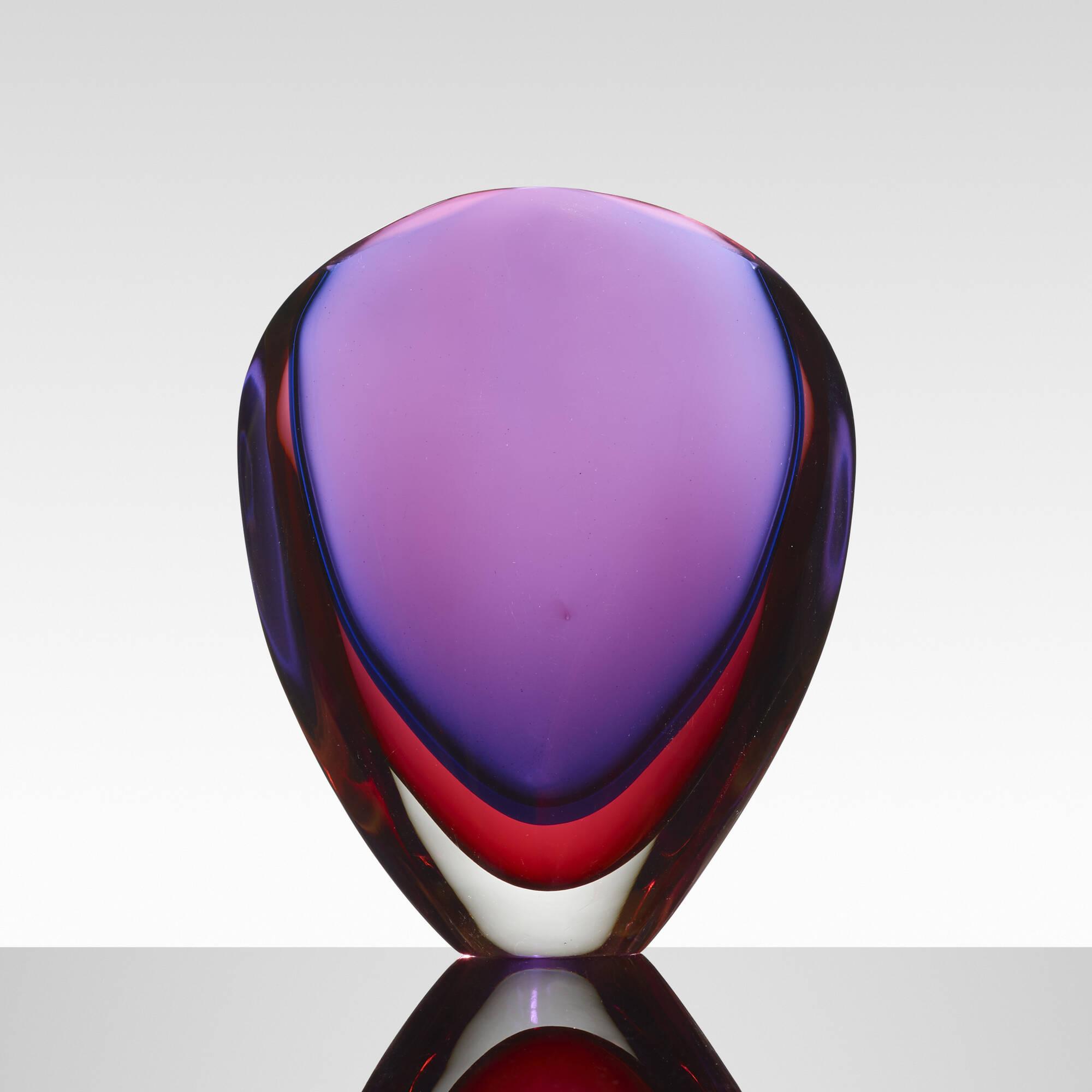 162: Flavio Poli / Valva vase, model 9814 (1 of 2)
