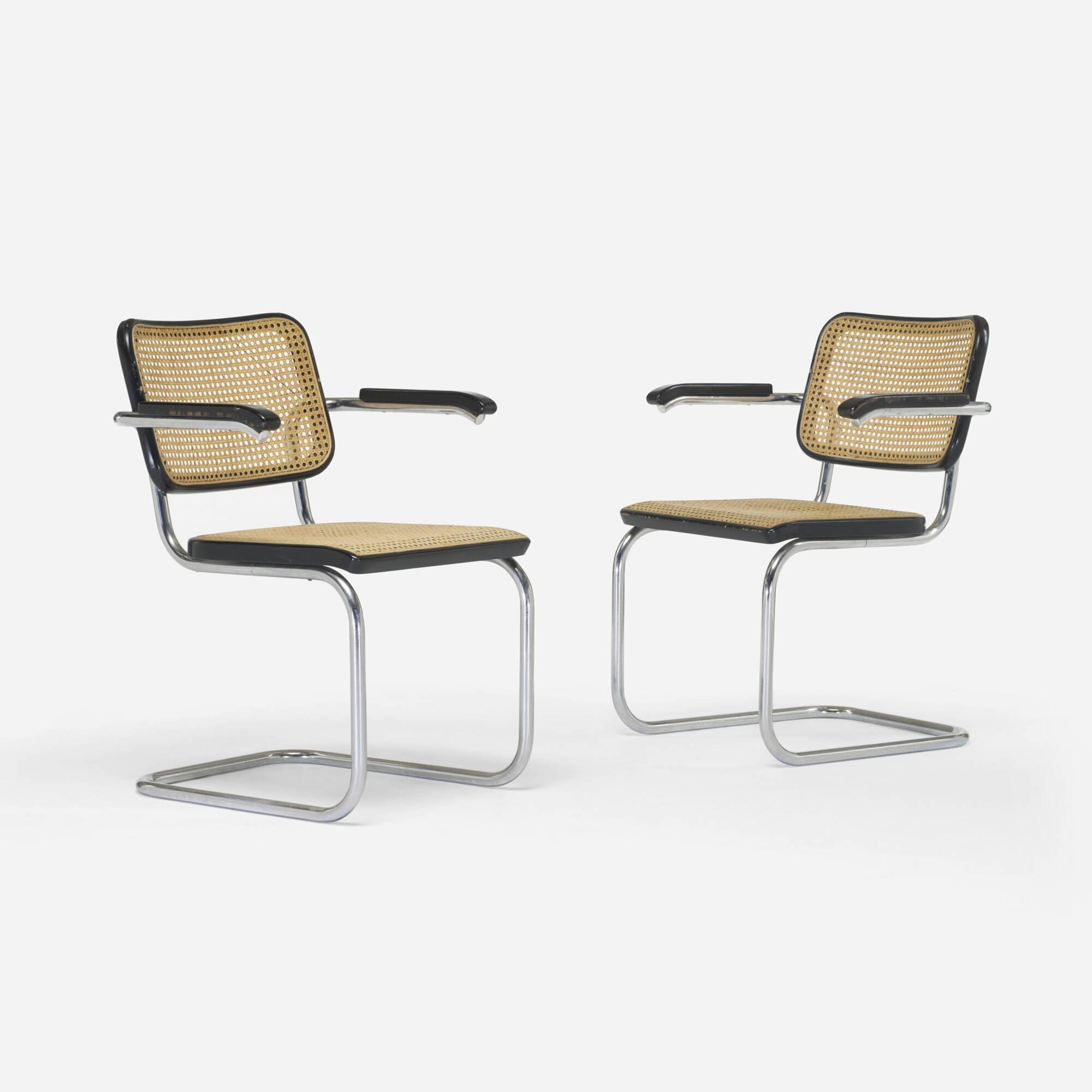 162: Marcel Breuer / Cesca Chairs, Pair (1 Of 6)