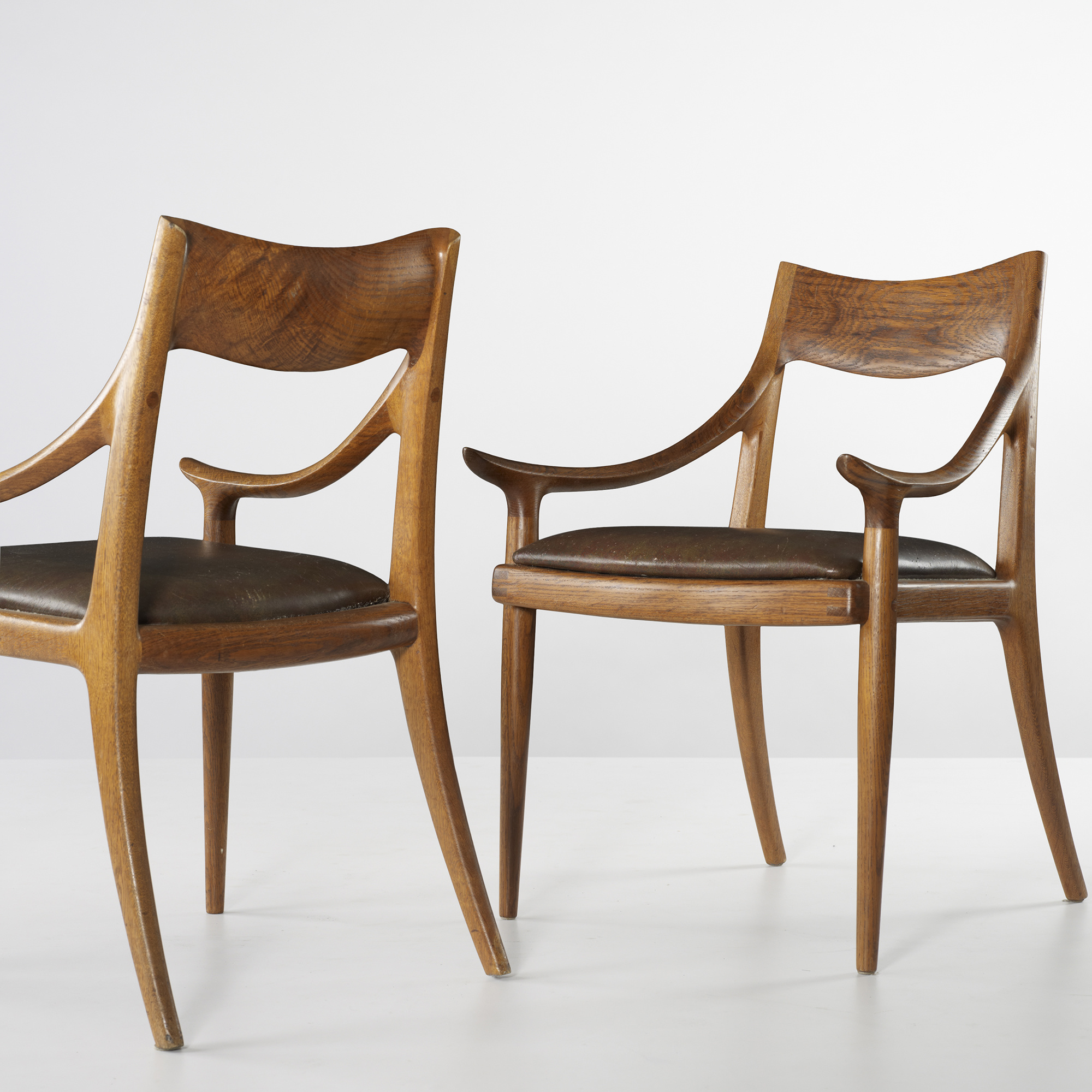 162: SAM MALOOF, dining chairs, set of six < Important