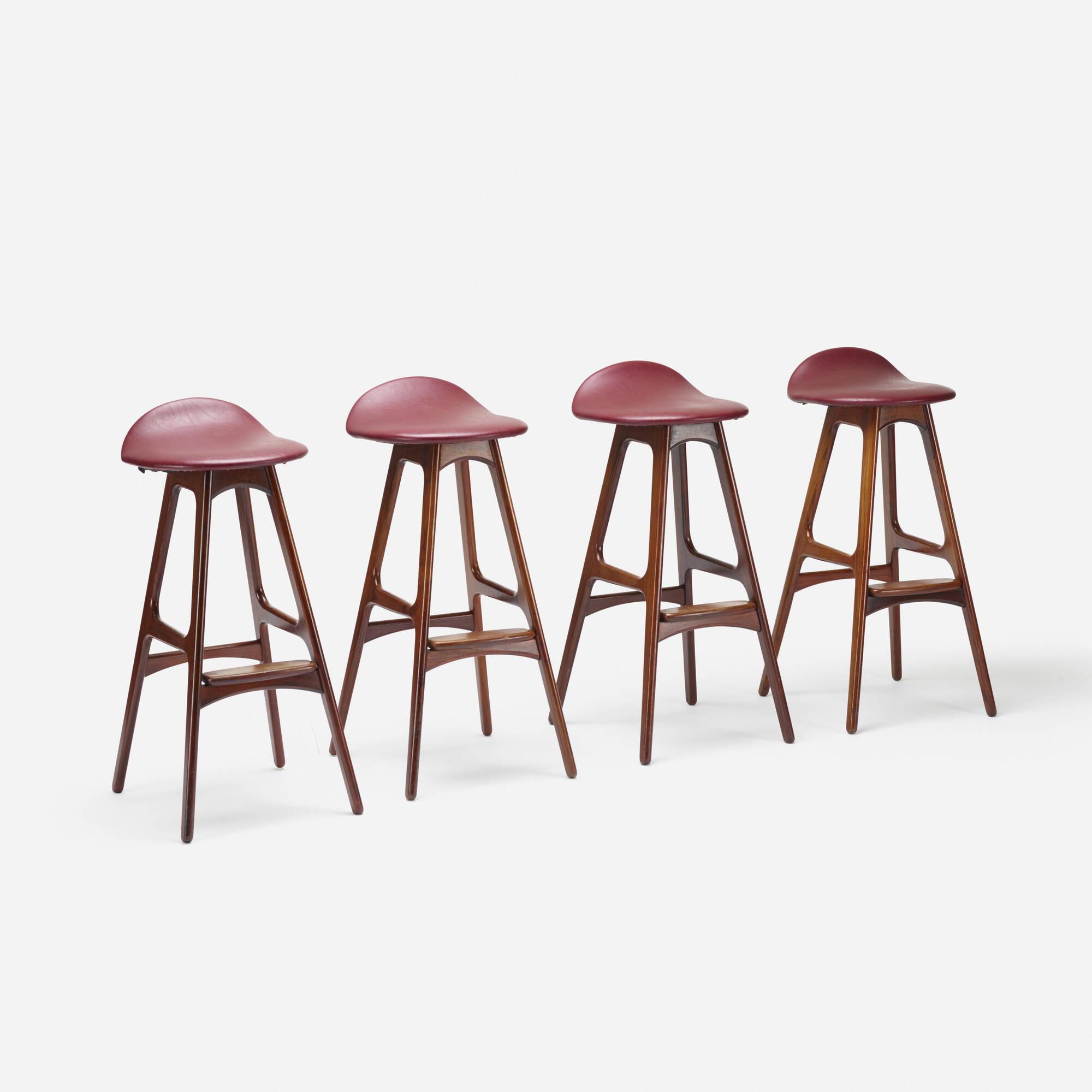 163: Erik Buck / stools model OD61, set of four (1 of 3)