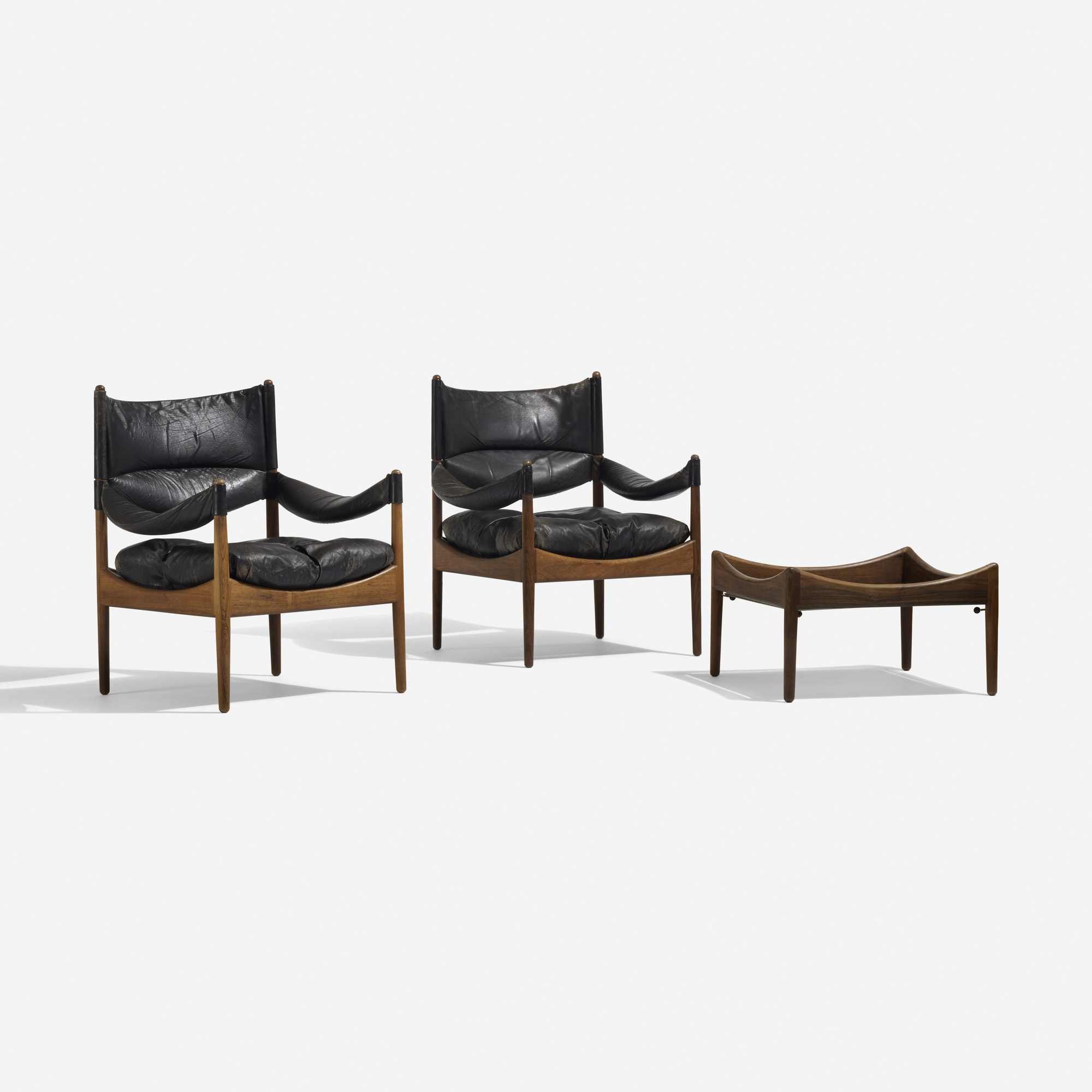163: Kristian Vedel / pair of Modus lounge chairs and occasional table (1 of 4)