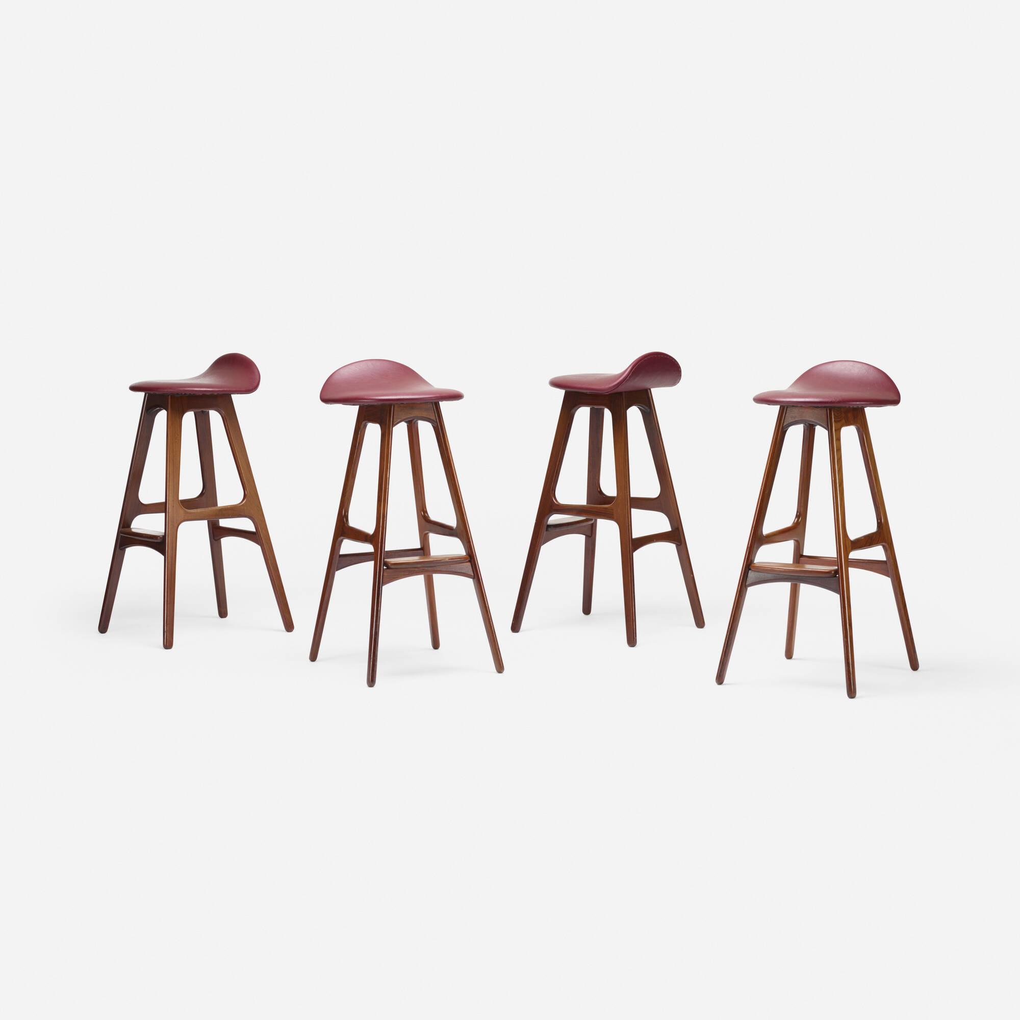163: Erik Buck / stools model OD61, set of four (2 of 3)