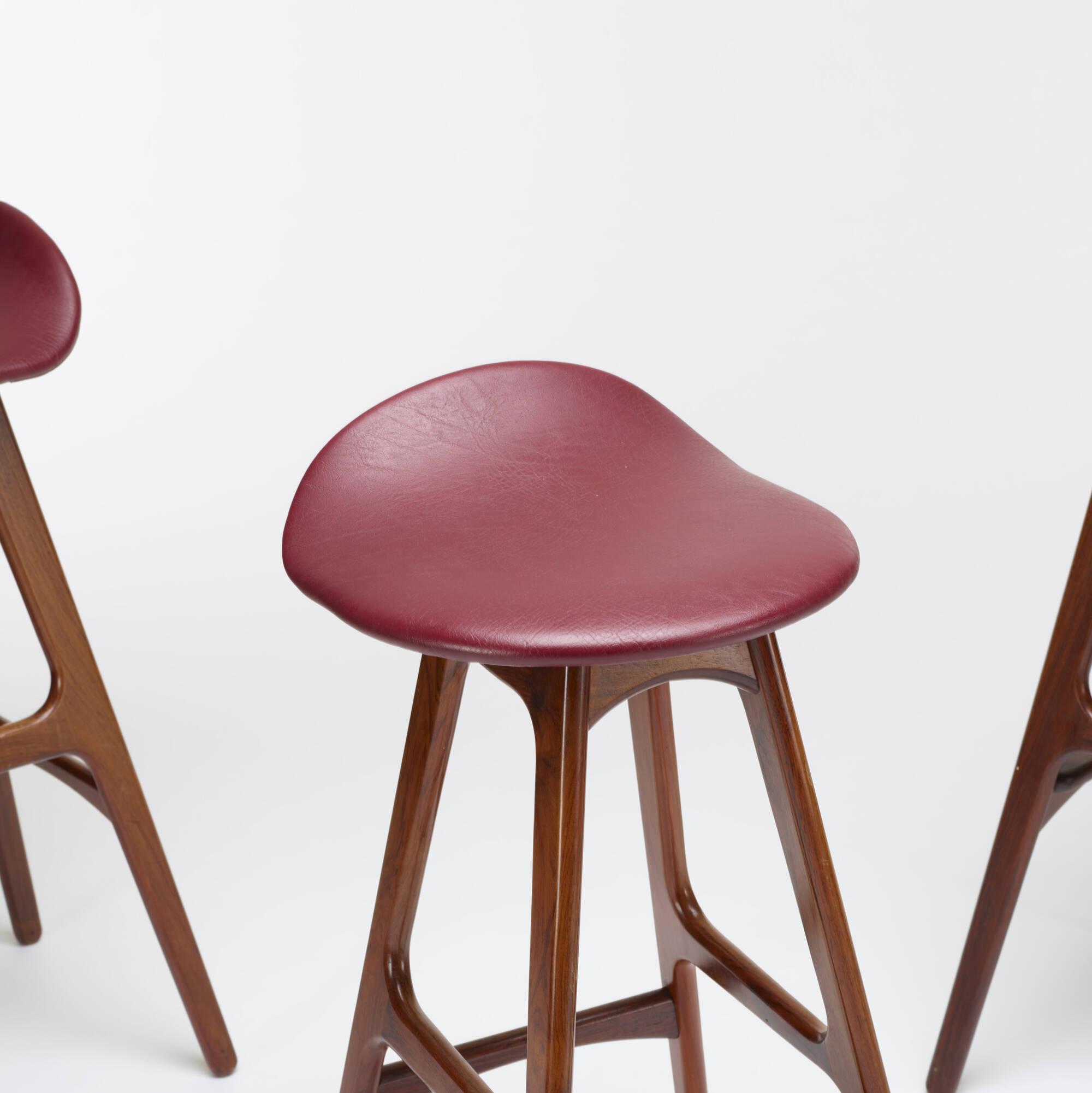 163: Erik Buck / stools model OD61, set of four (3 of 3)