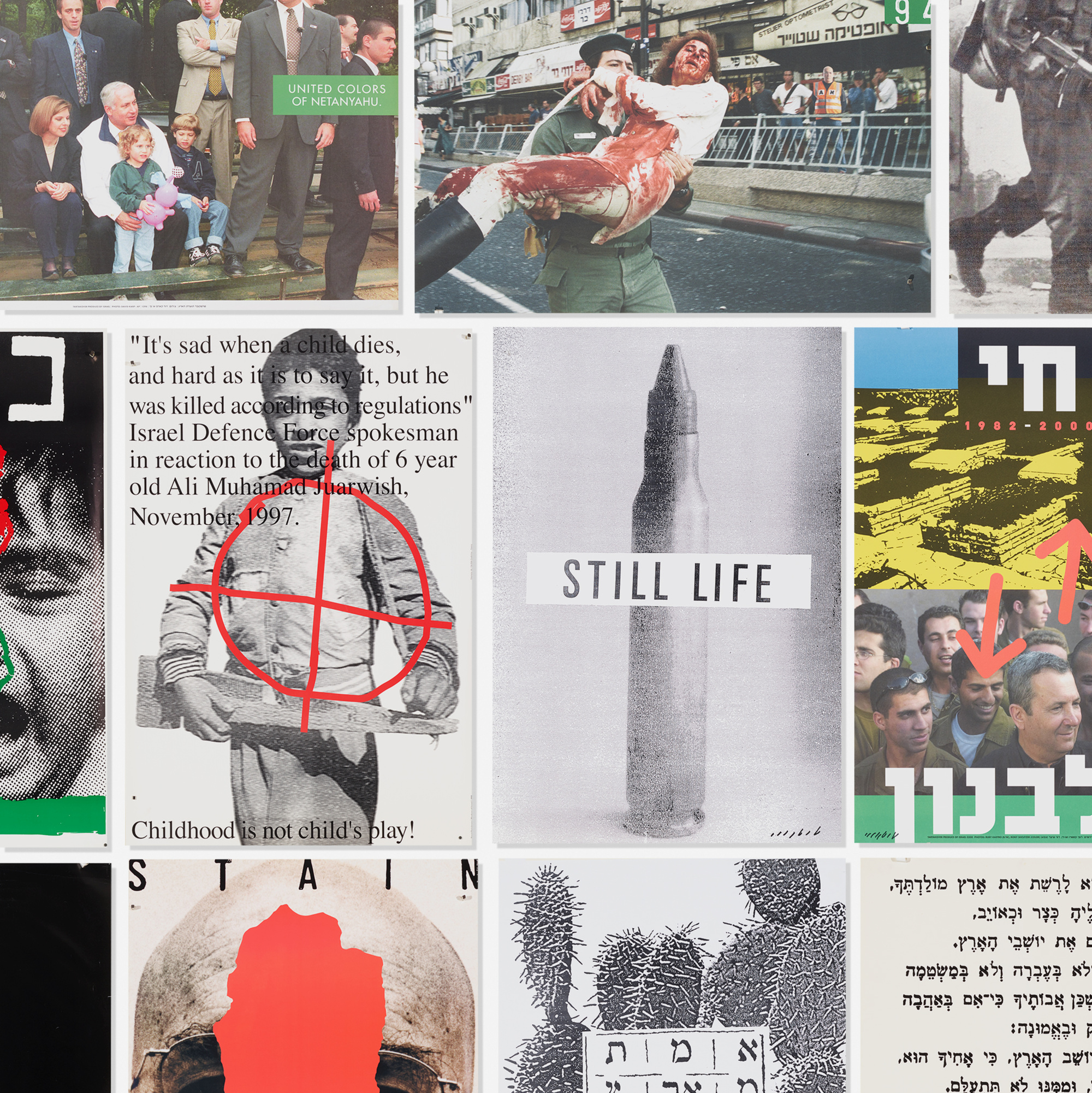 164: David Tartakover / collection of thirty-five political art posters (1 of 1)