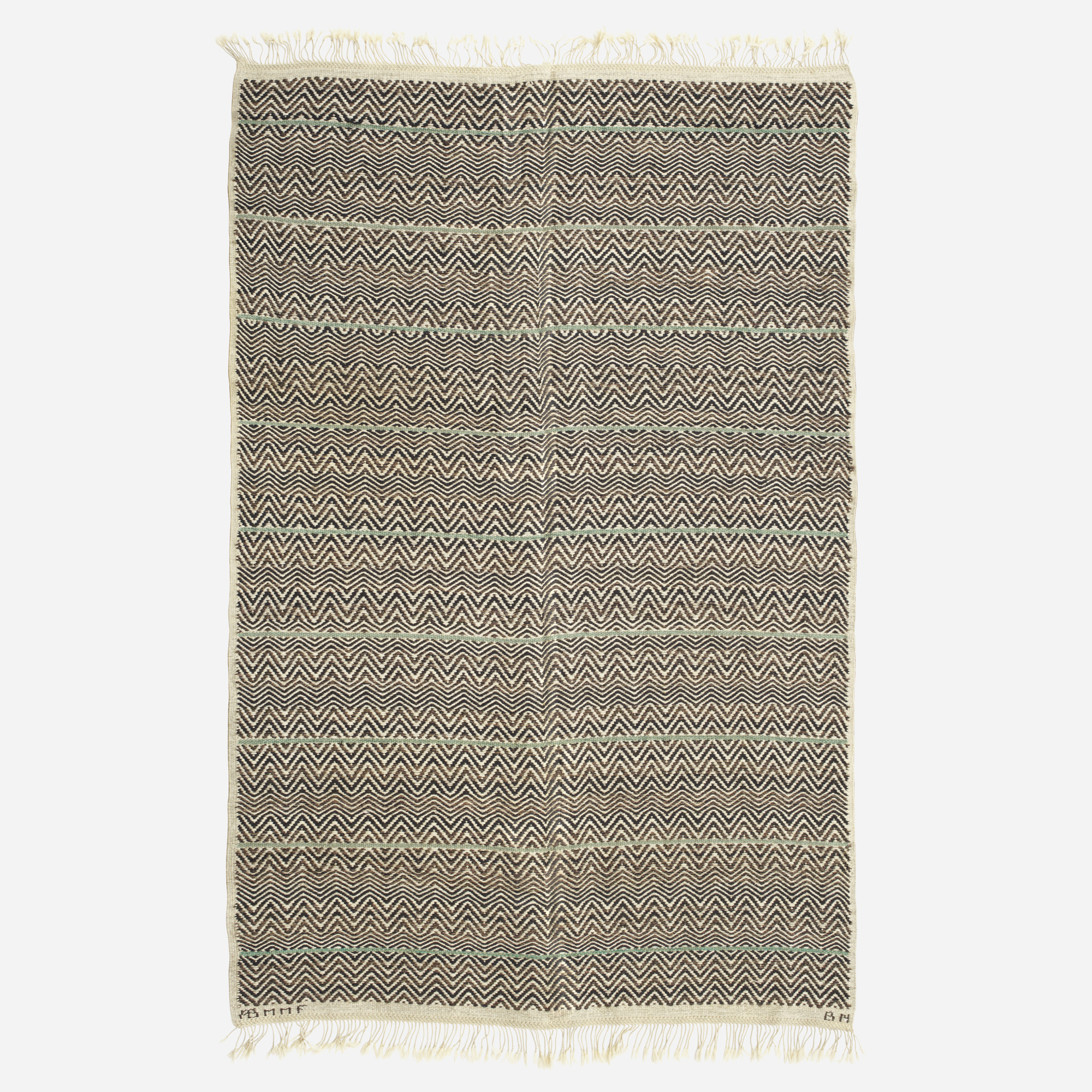 164: Barbro Nilsson / Svart Rosengång flatweave carpet (1 of 2)