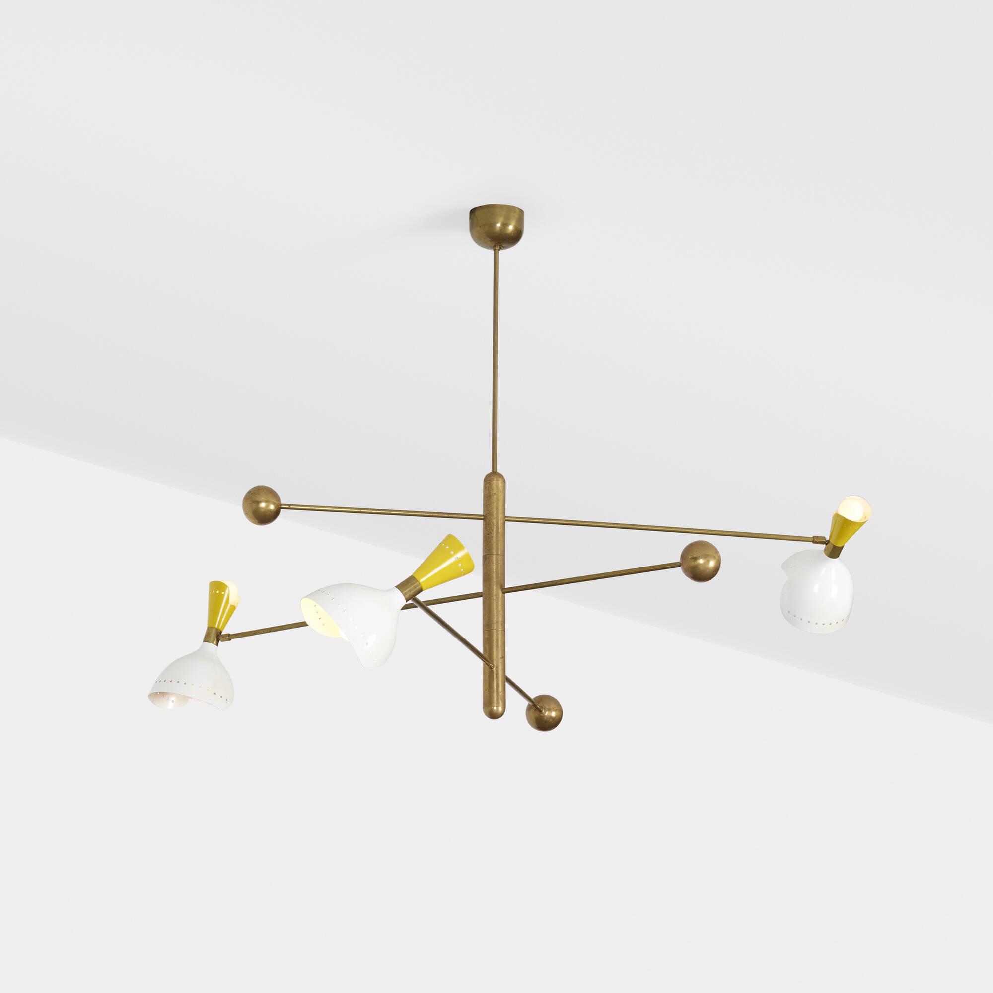 165 stilnovo chandelier design 14 december 2017 auctions 165 stilnovo chandelier 1 of 2 aloadofball Gallery