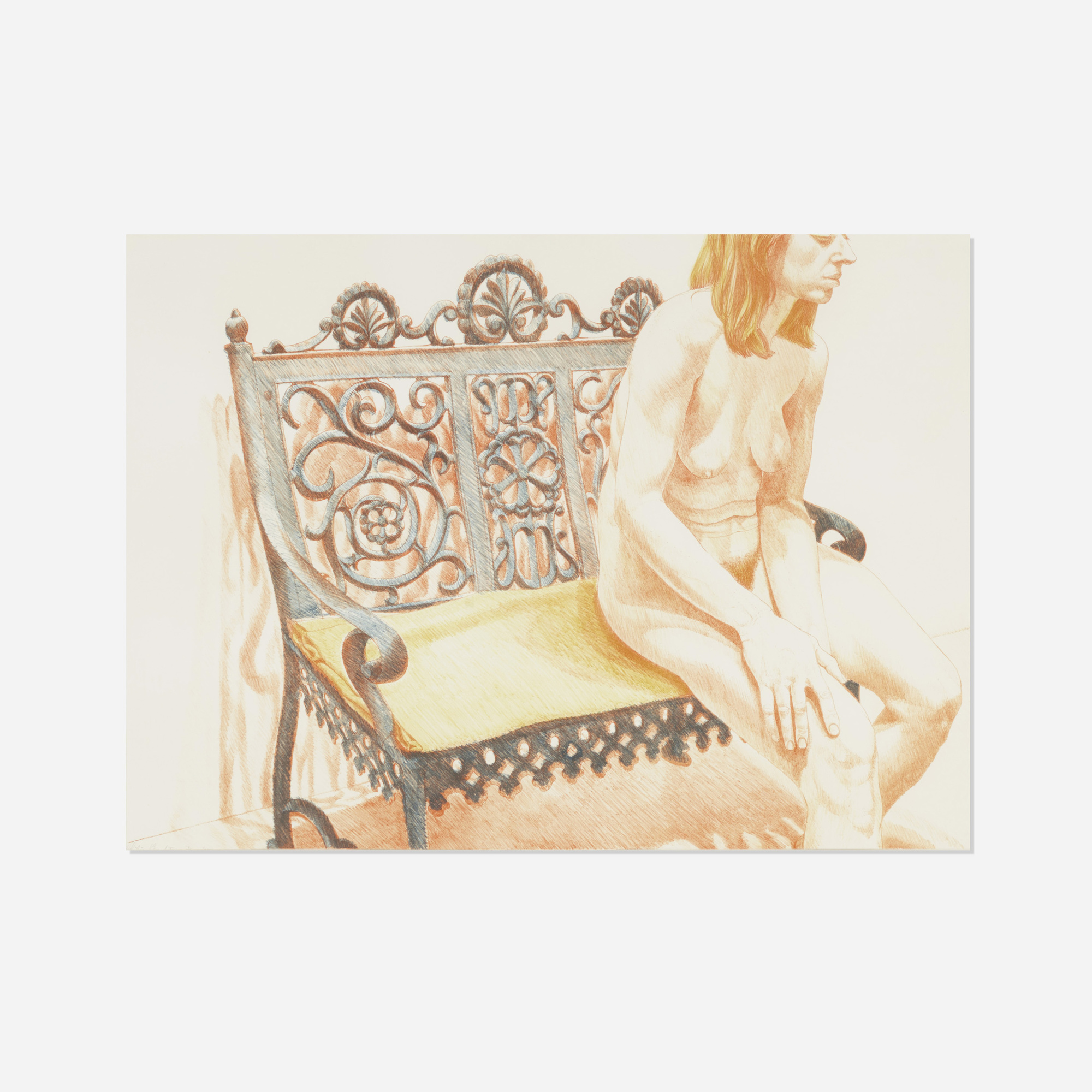165: Philip Pearlstein / Girl on an Iron Bench (1 of 1)