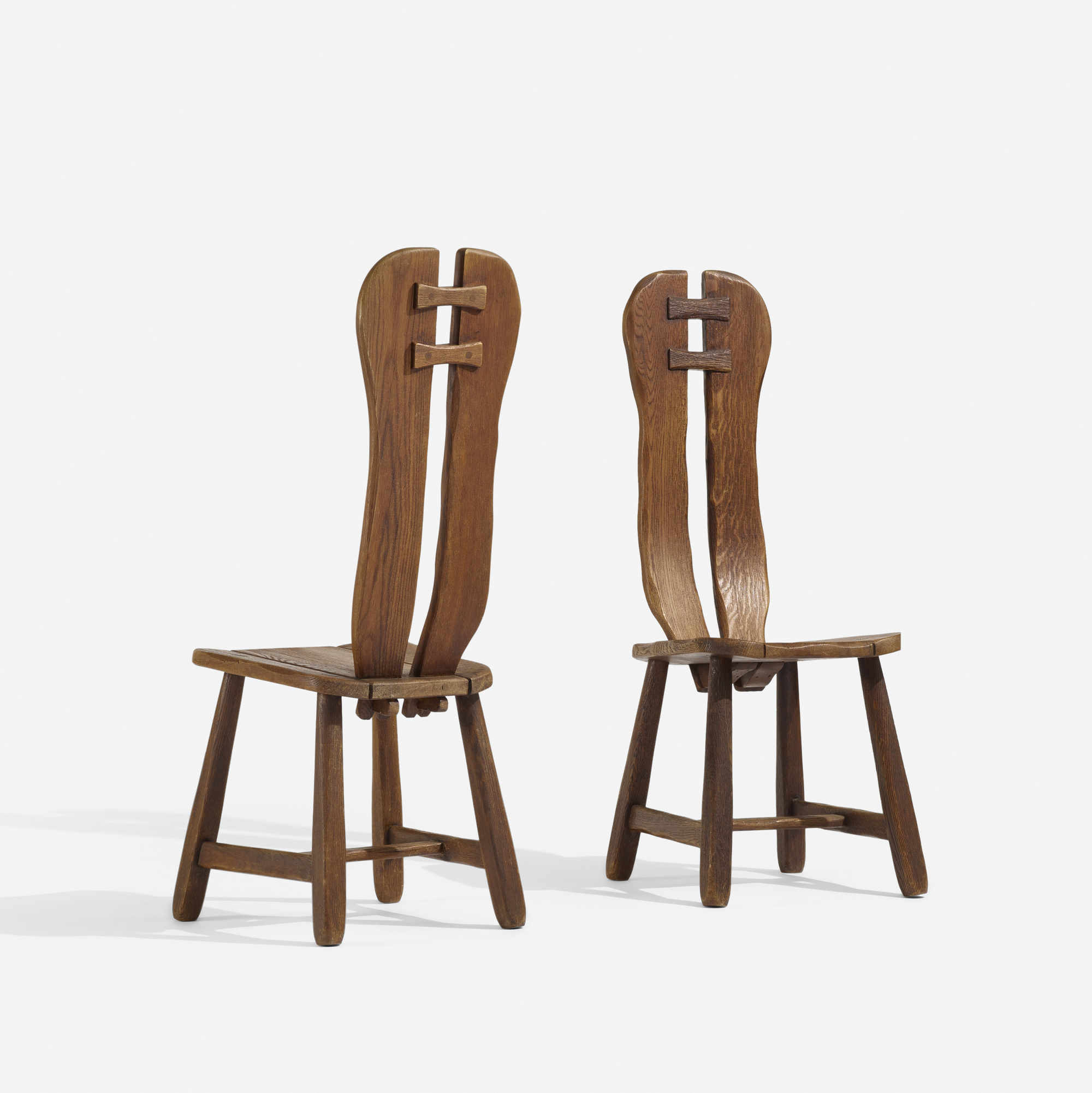 165: Swedish / chairs, pair (1 of 3)