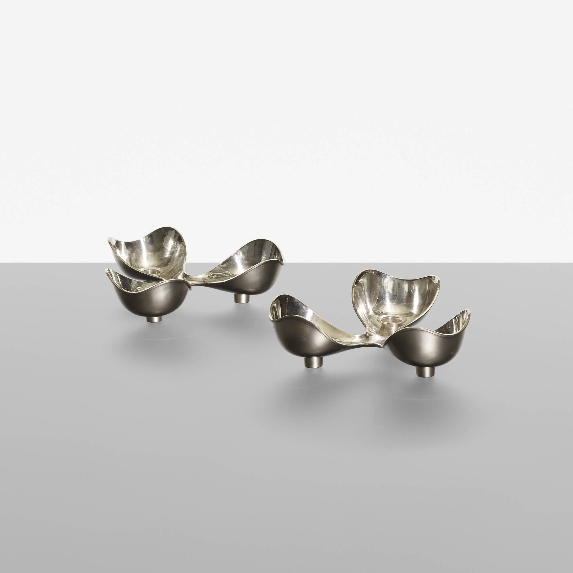165: Ole Hagen / candleholders, pair (1 of 3)