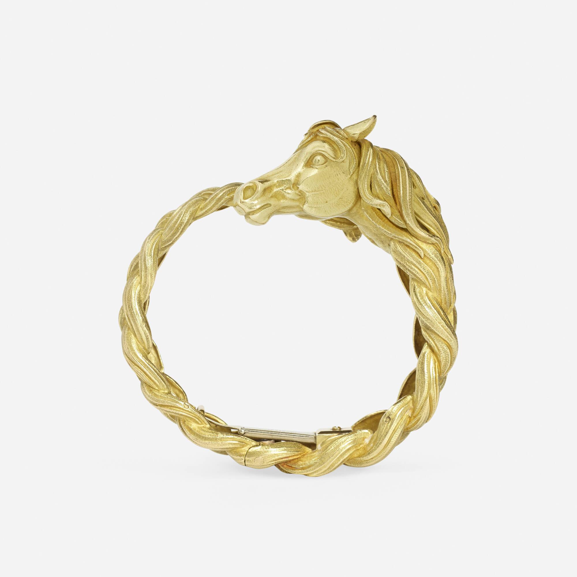 165: Hermès / A gold Tête de Cheval bracelet (2 of 2)