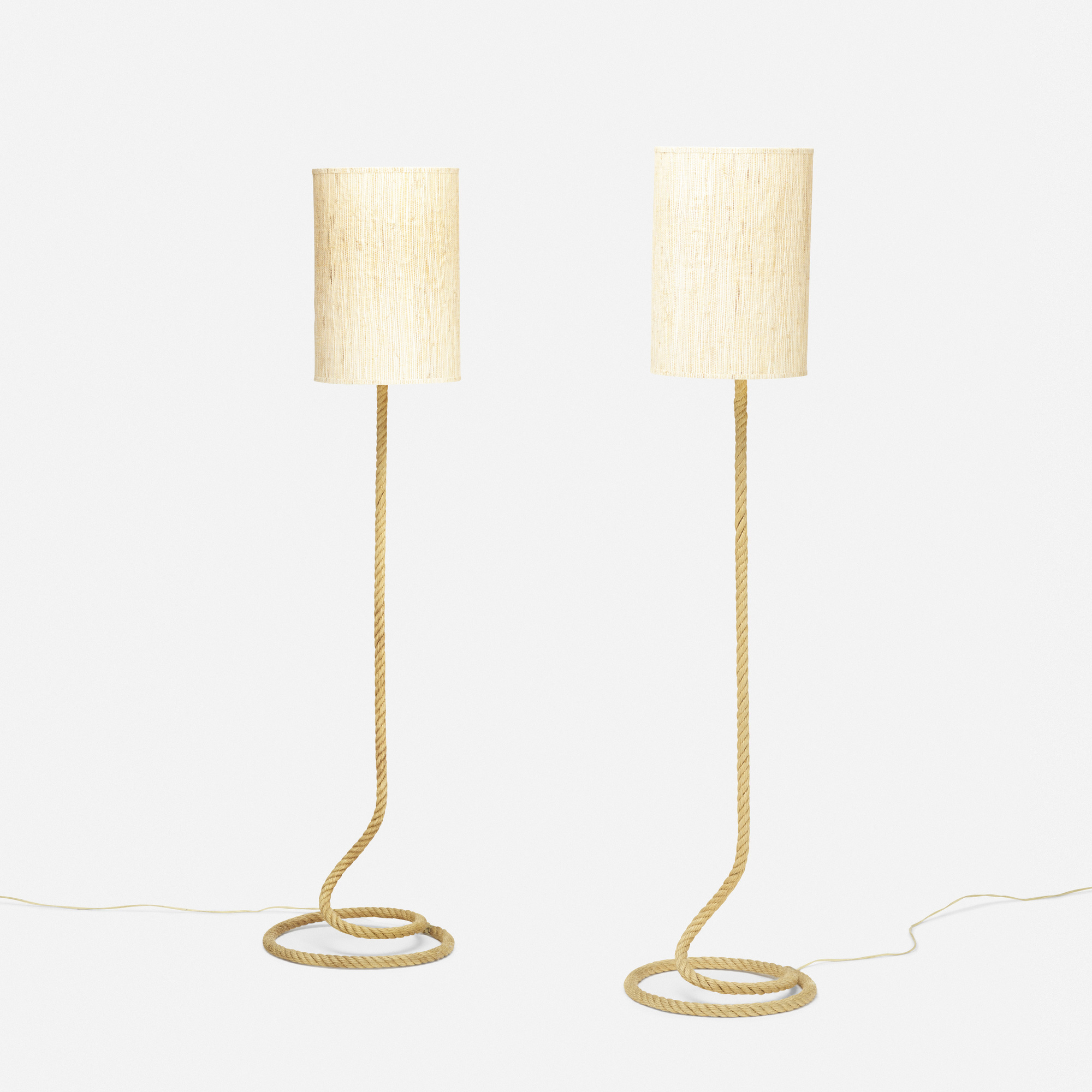 166: Adrien Audoux and Frida Minet / floor lamps, pair (1 of 3)