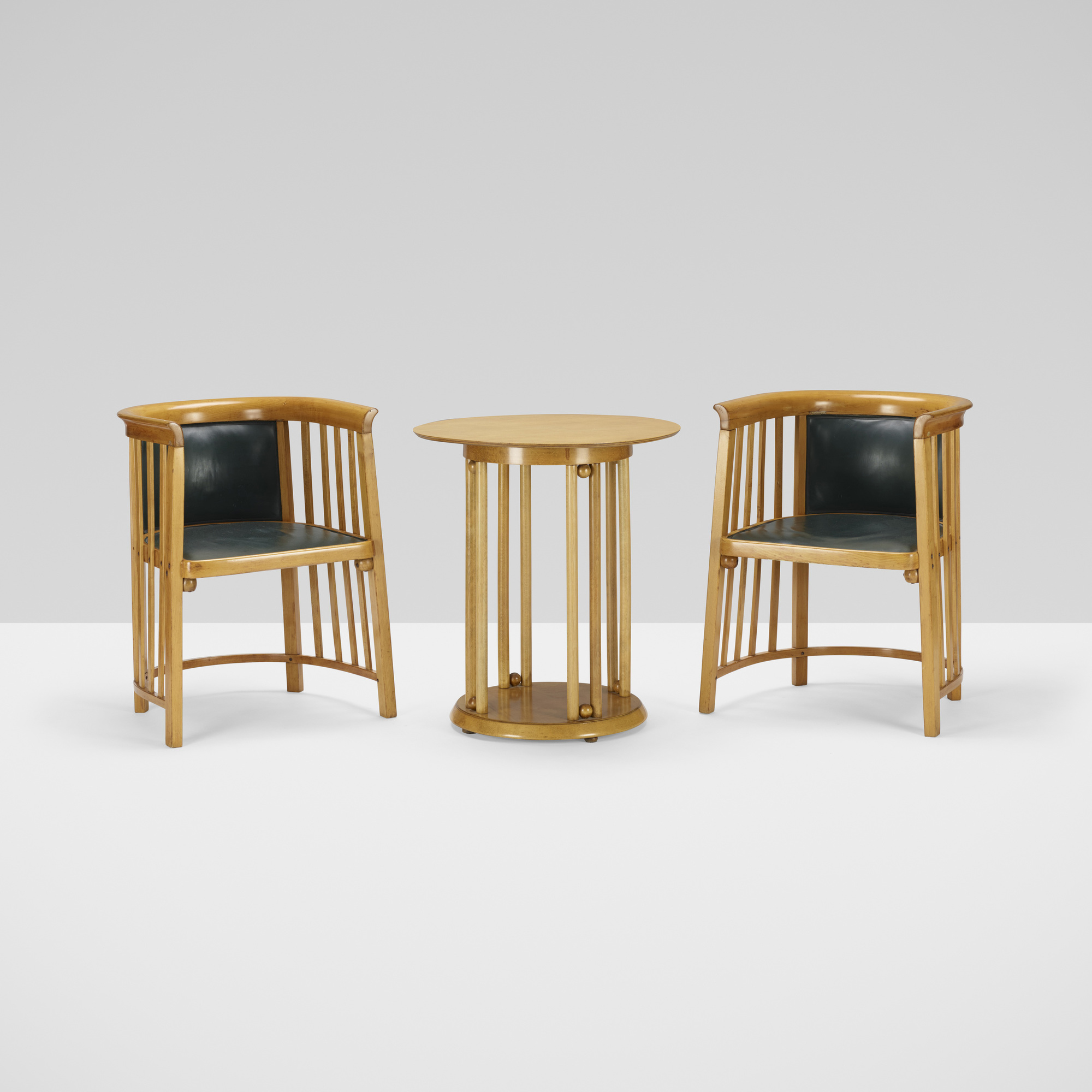 166: Josef Hoffmann / pair of chairs and occasional table (2 of 2)