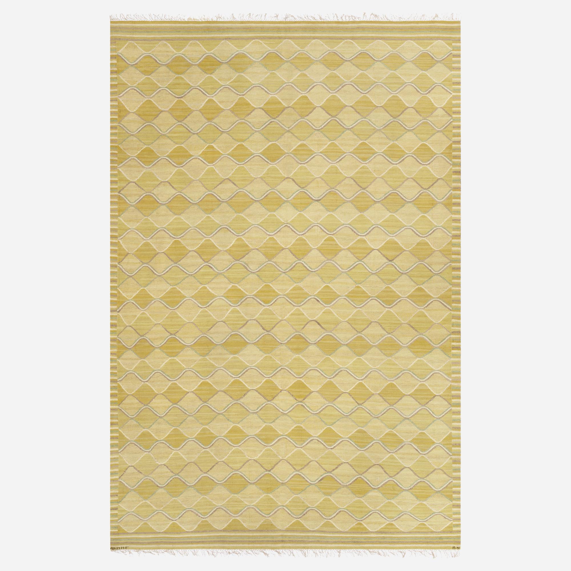 167: Barbro Nilsson / Spättan tapestry weave carpet (1 of 1)