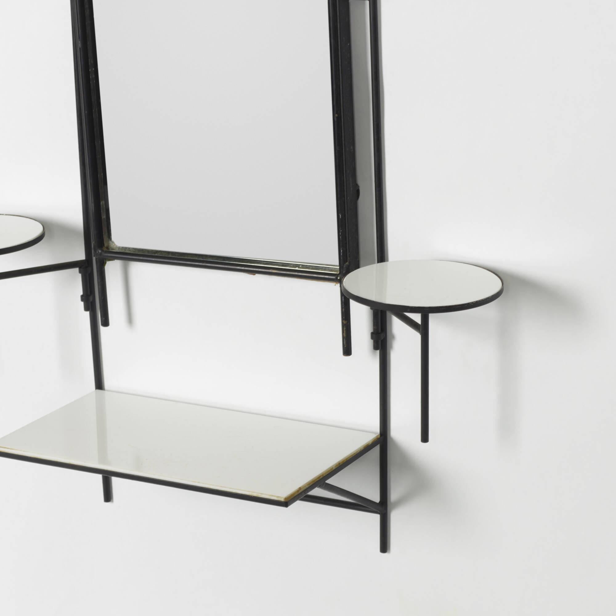 167: PAUL MCCOBB, wall-mounted vanity and stool < Paul McCobb, 29 ...