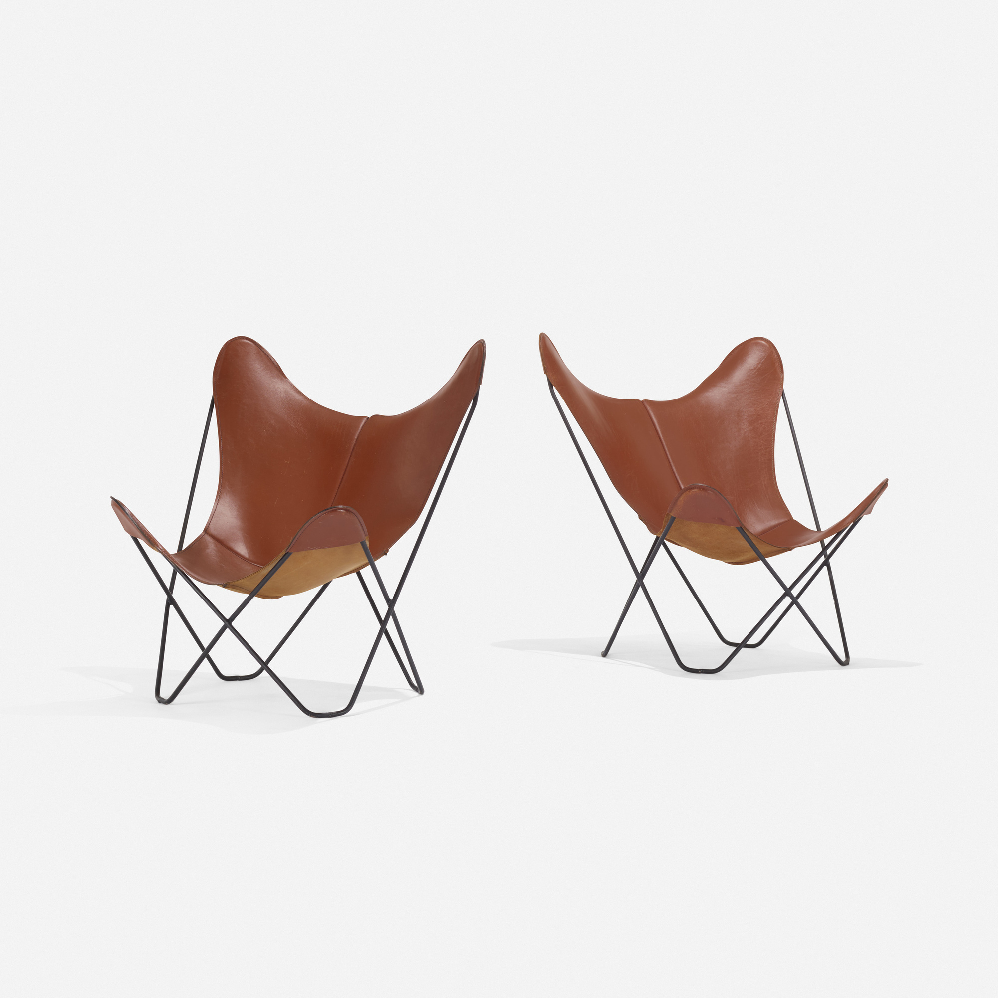 168: Antonio Bonet, Juan Kurchan And Jorge Ferrari Hardoy / Butterfly Chairs,  Pair